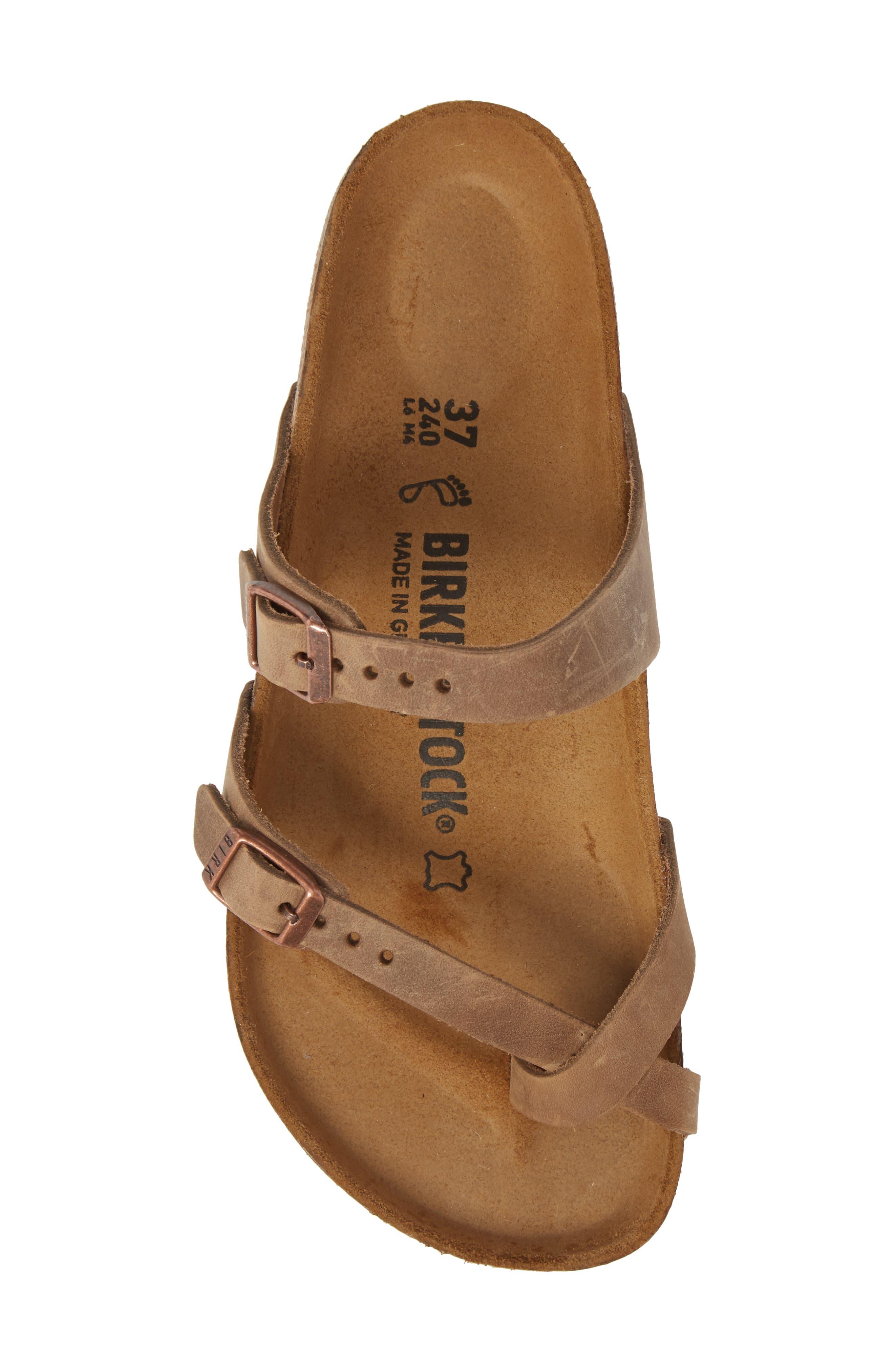 Mayari Slide Sandal,                             Alternate thumbnail 5, color,                             Tobacco Oiled Leather