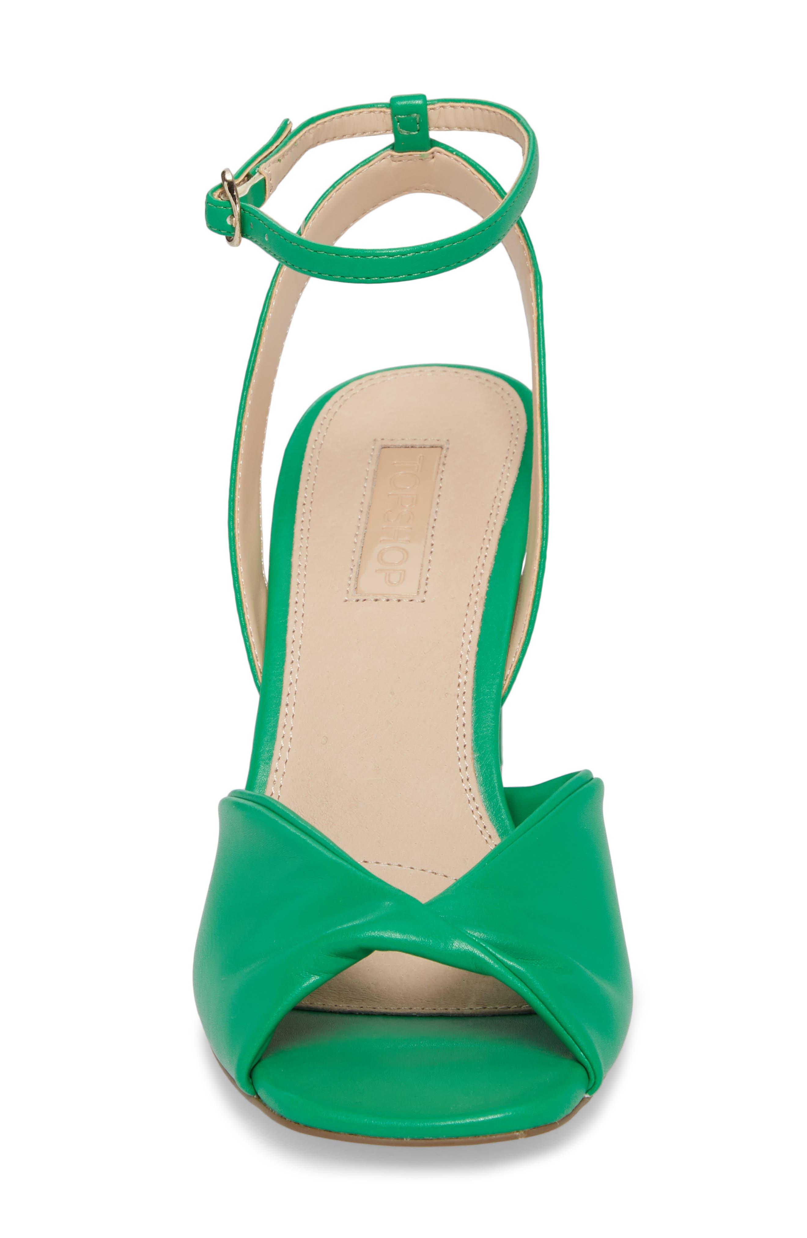 Raven Skinny Heel Sandal,                             Alternate thumbnail 4, color,                             Green