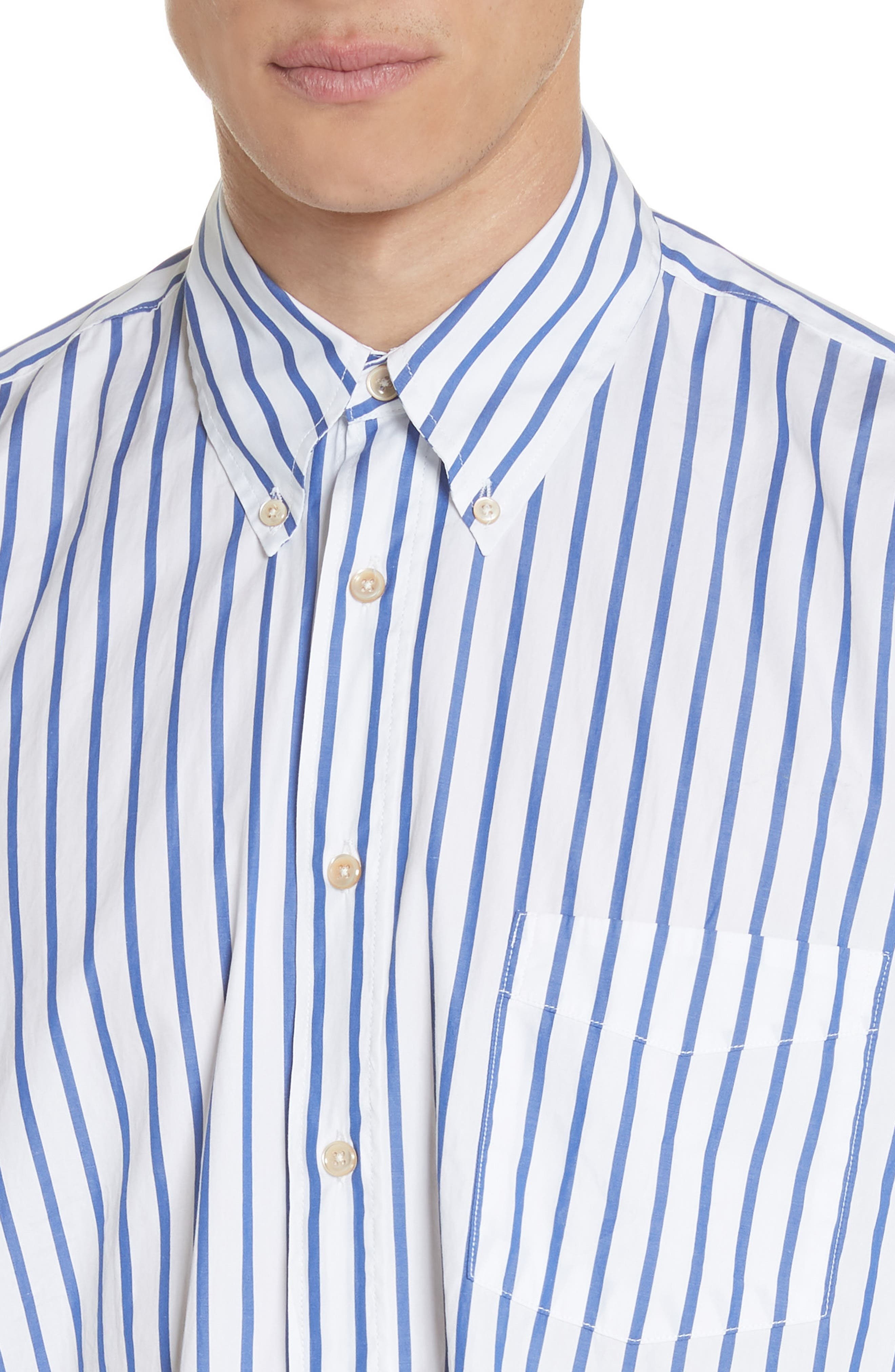 Alternate Image 2  - OUR LEGACY Oversize Stripe Woven Shirt