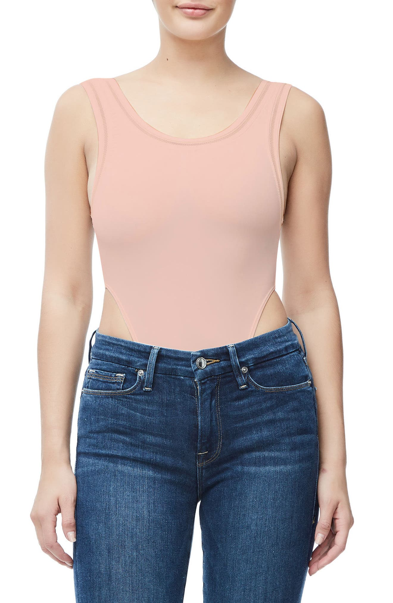 Good Body Khlo Thong Bodysuit,                             Alternate thumbnail 2, color,                             Blush001