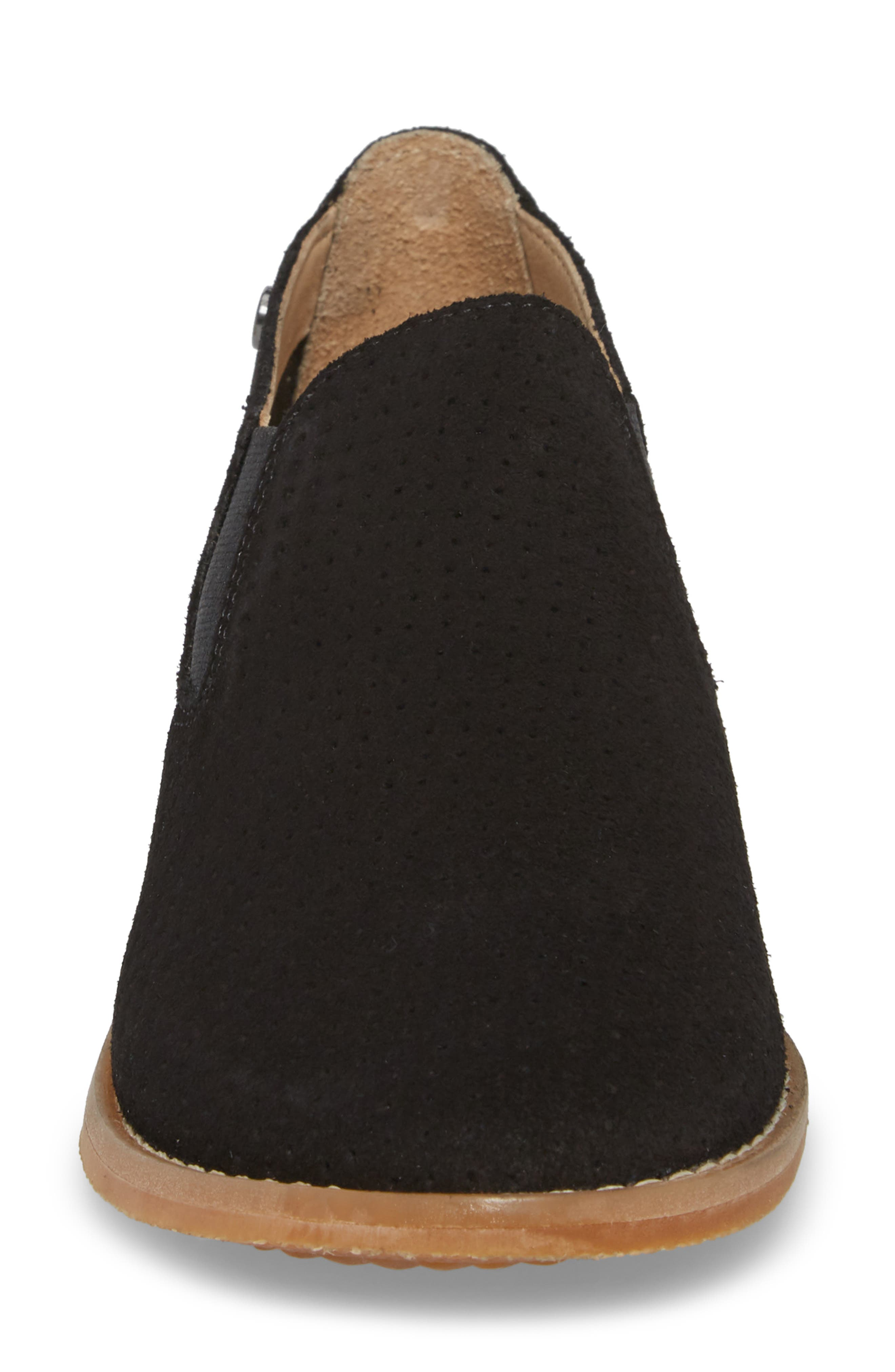 Hush Puppies Analise Clever Slip-On,                             Alternate thumbnail 4, color,                             Black Perforated Suede