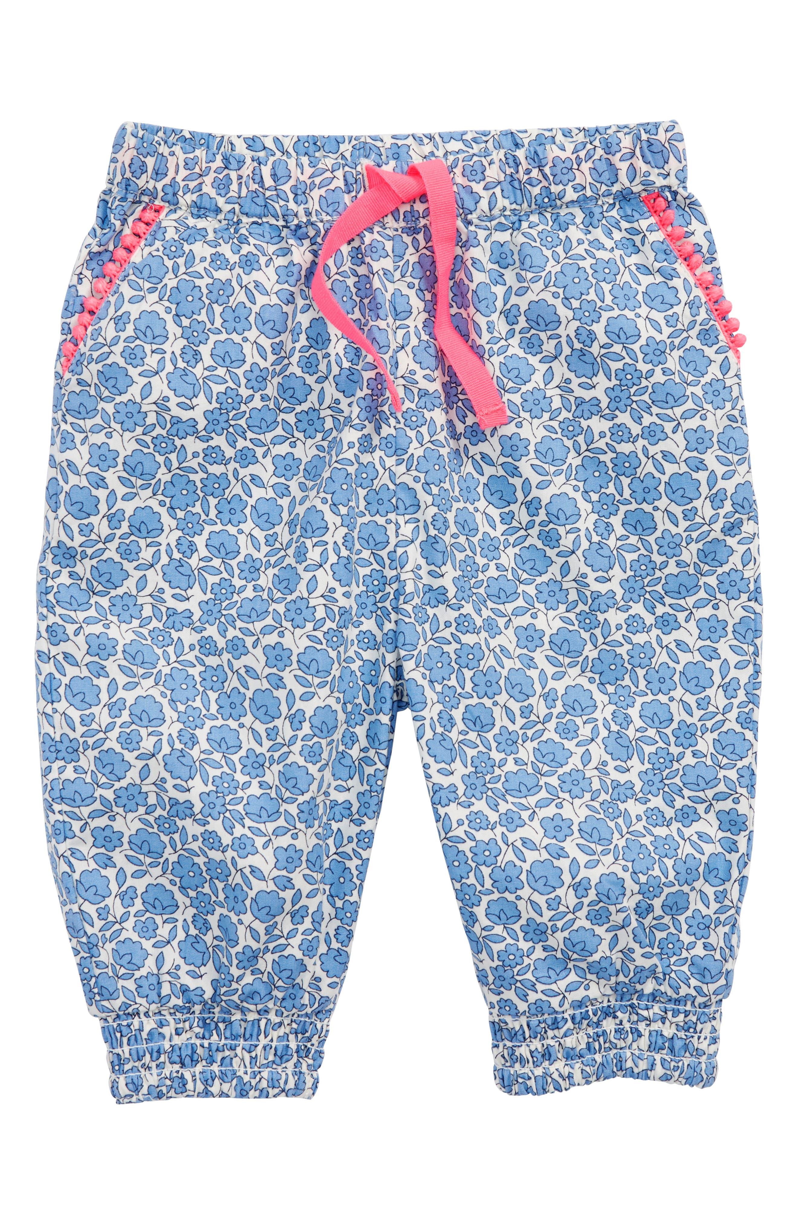 Alternate Image 1 Selected - Mini Boden Summer Floral Pants (Baby Girls & Toddler Girls)
