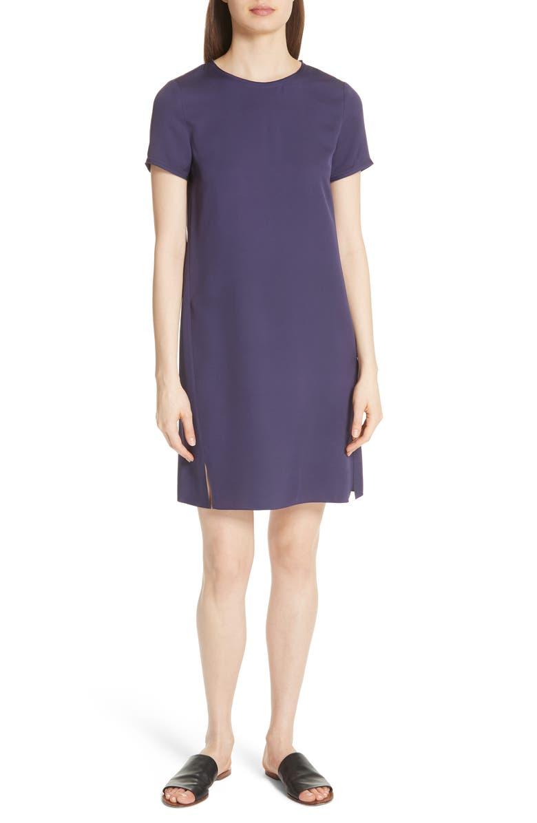 Modern Silk T-Shirt Dress