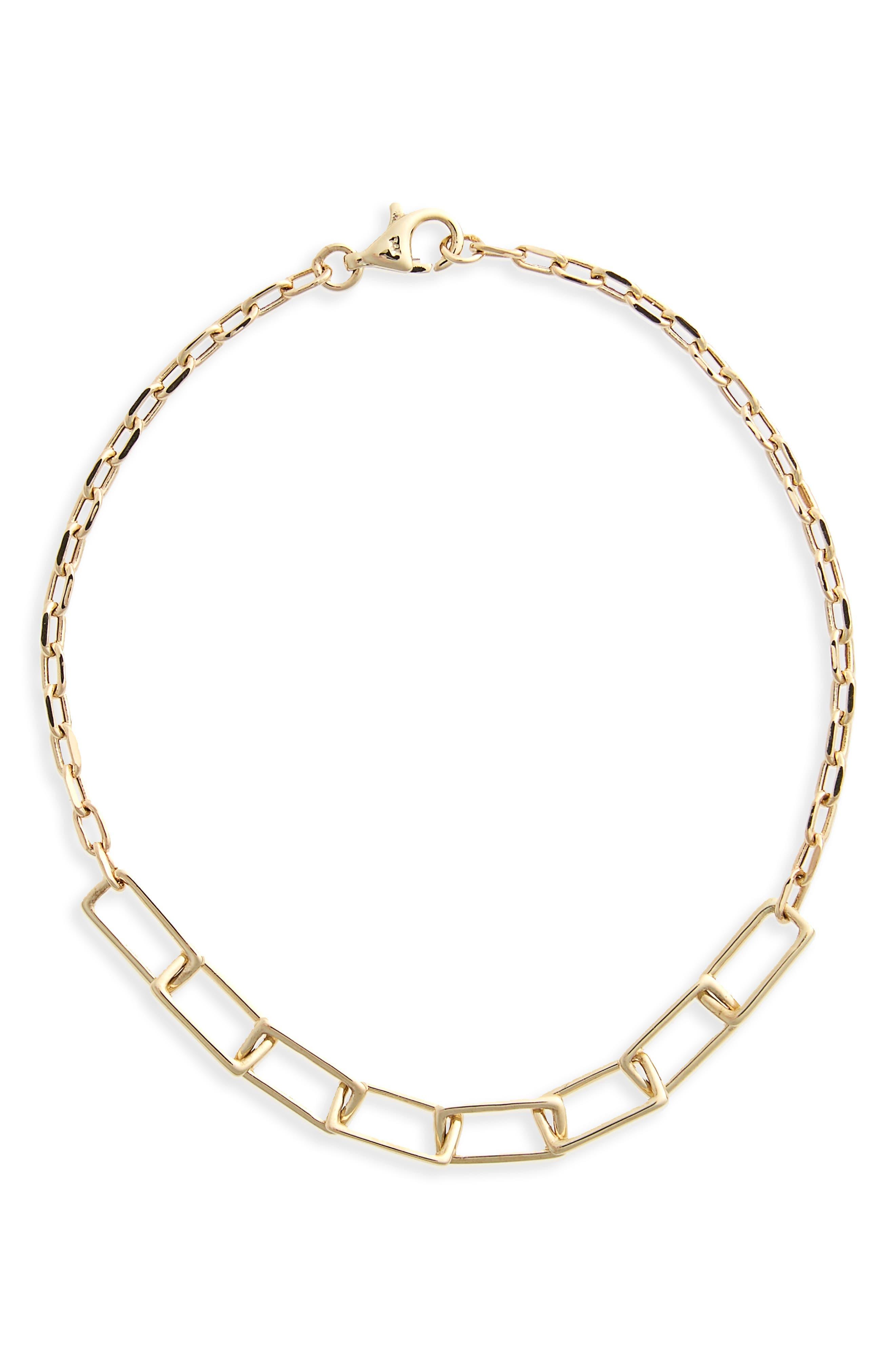 Link Line Bracelet,                             Main thumbnail 1, color,                             Yellow Gold