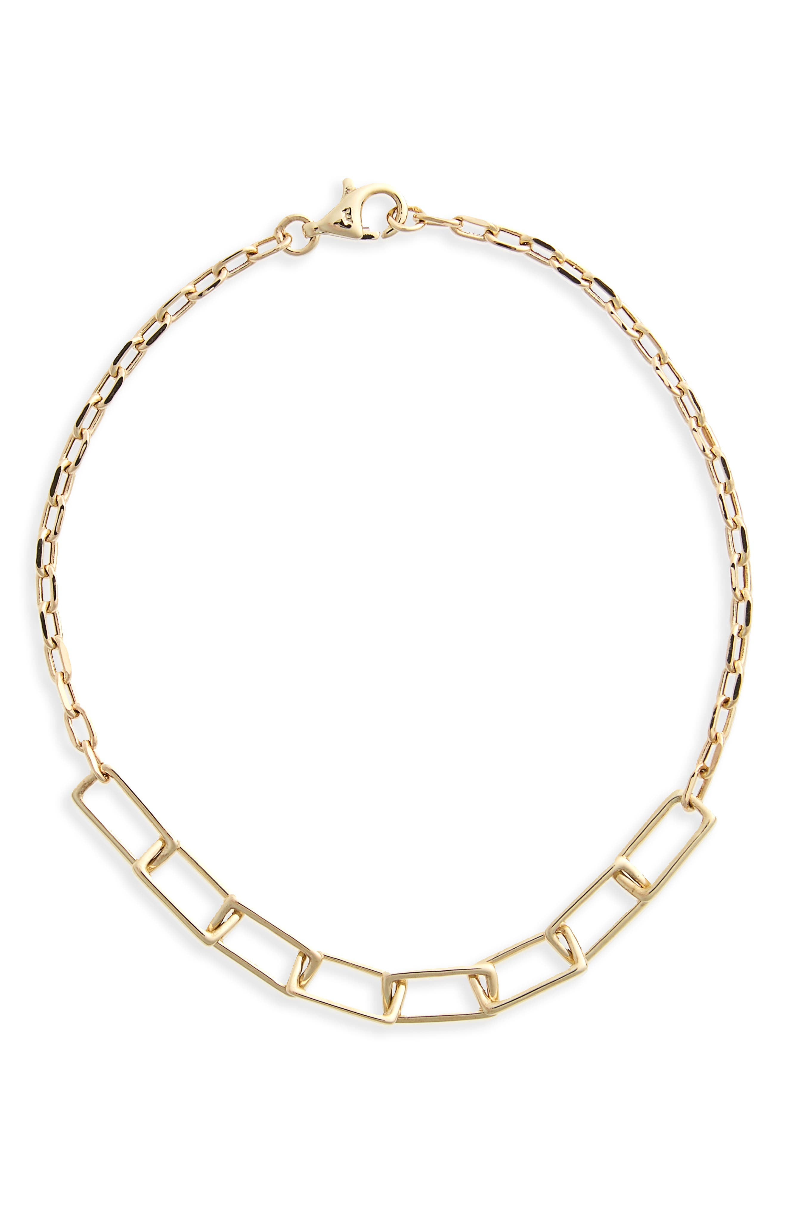 Link Line Bracelet,                         Main,                         color, Yellow Gold