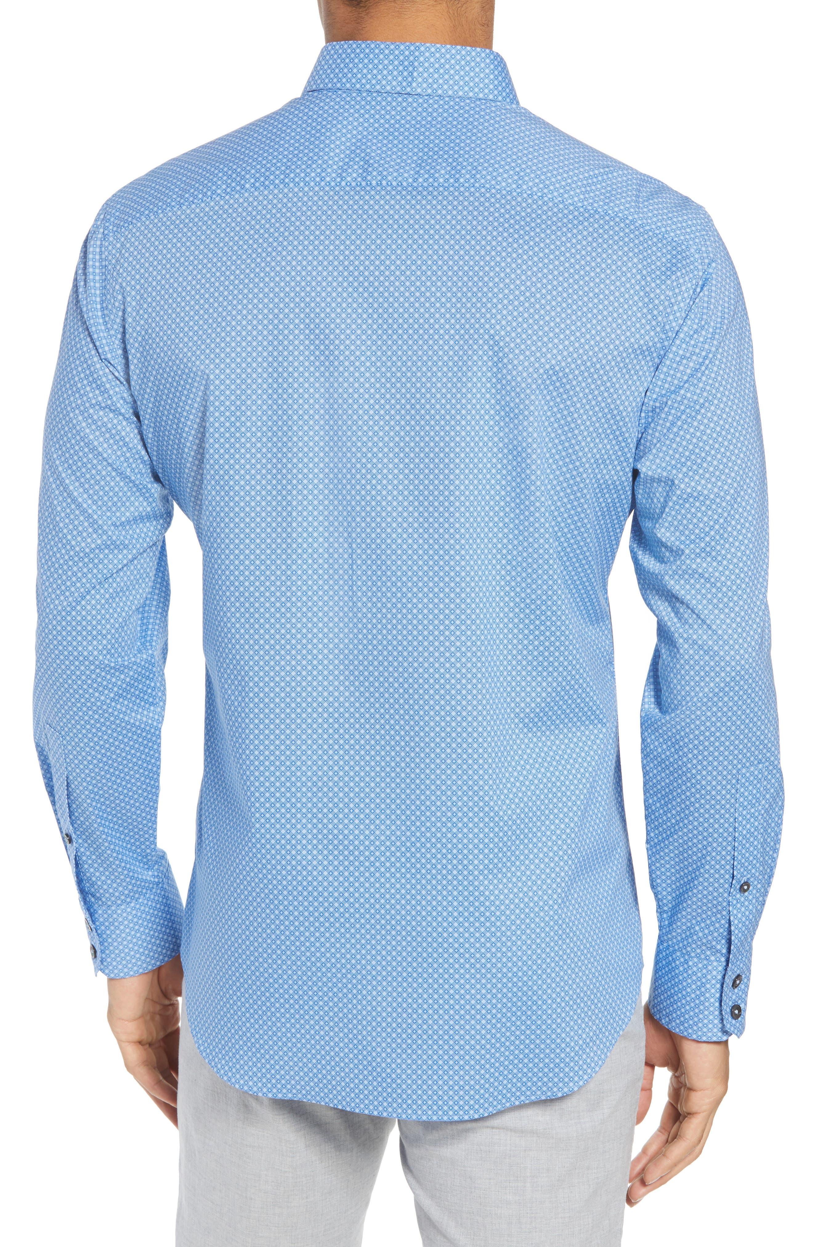 Ethan Slim Fit Sport Shirt,                             Alternate thumbnail 2, color,                             Blue