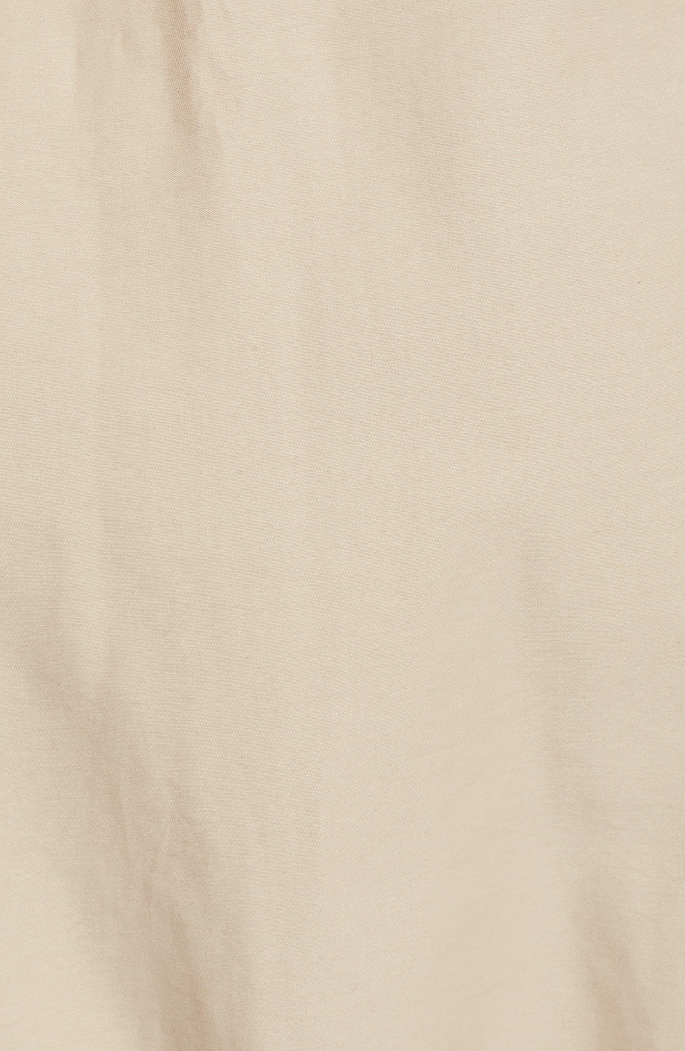 Ruffle Front Skirt,                             Alternate thumbnail 5, color,                             Tan Thread