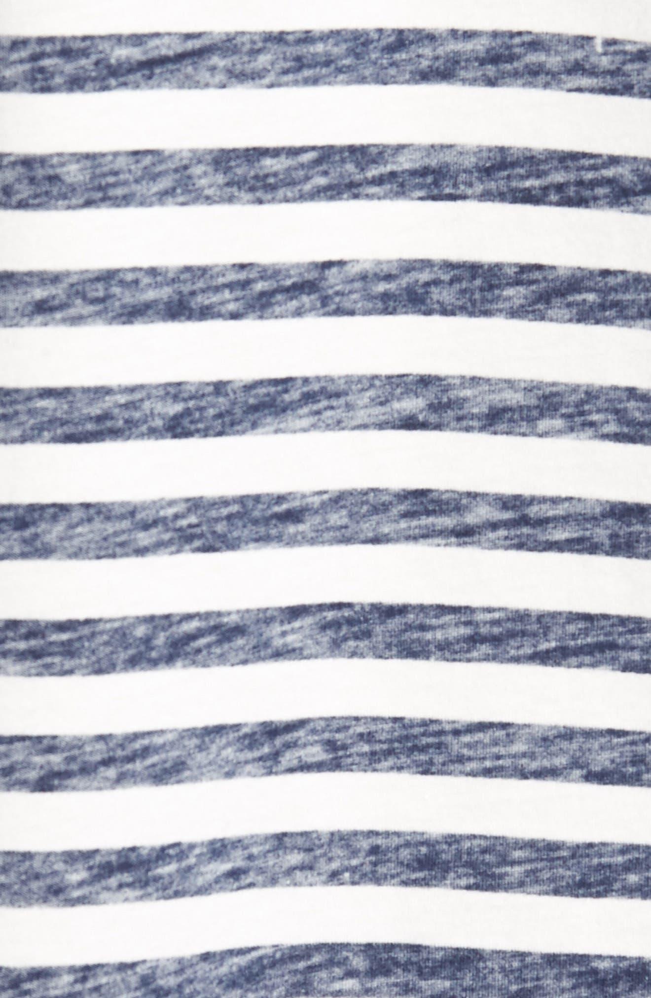 Reverse Stripe T-Shirt,                             Alternate thumbnail 5, color,                             Navy Stripe