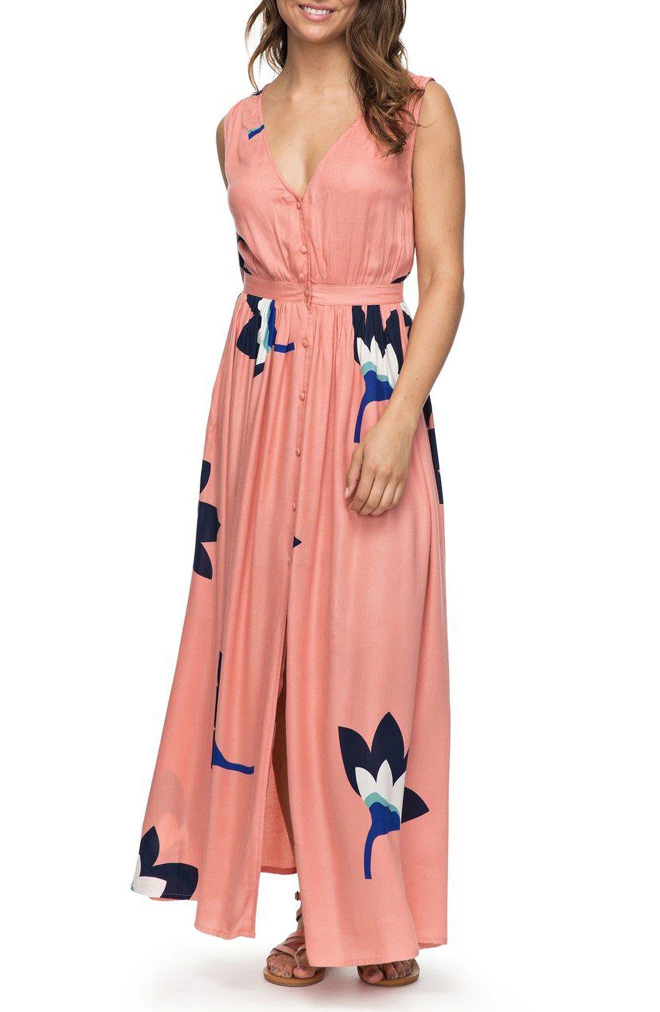 Roxy Apache Nature Print Maxi Dress