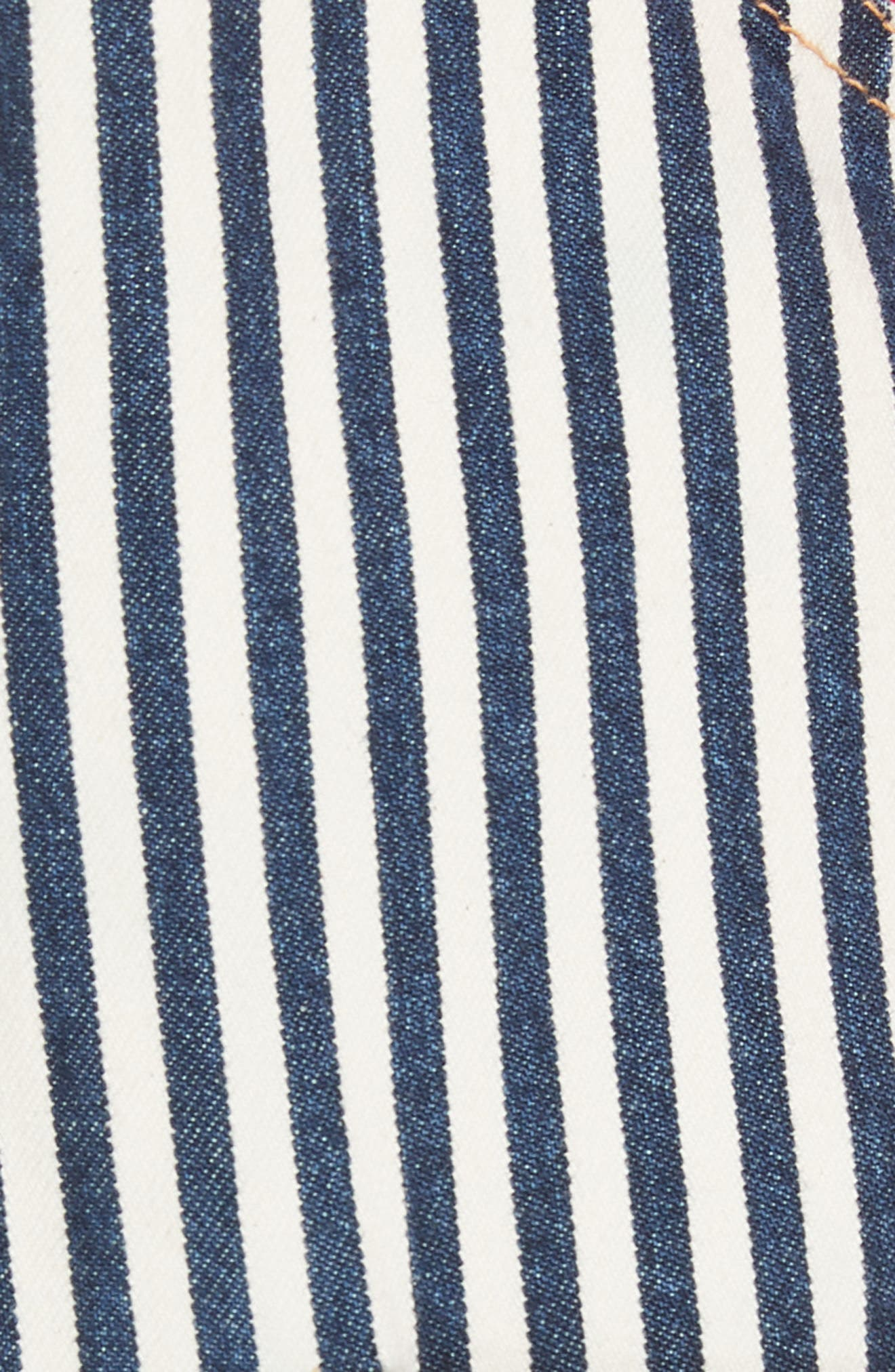 Patched Dungarees,                             Alternate thumbnail 5, color,                             Indigo Stripe