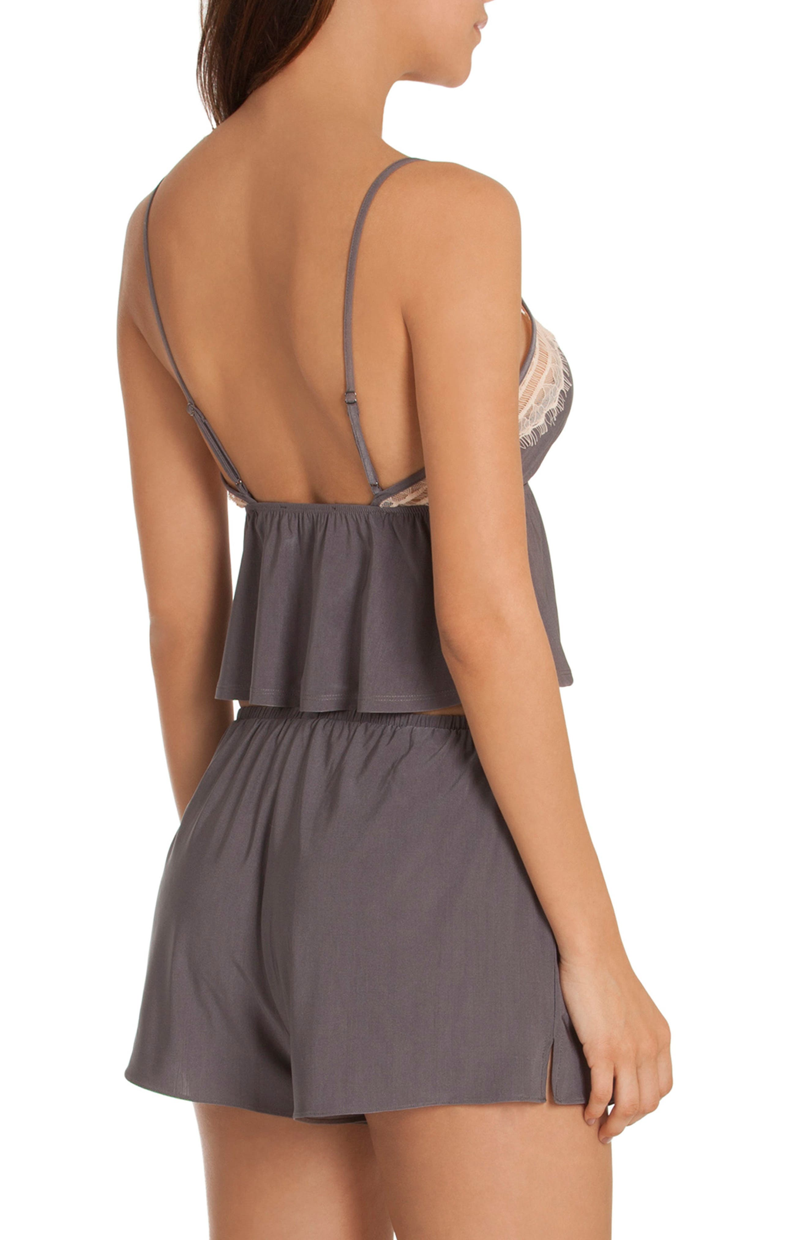 Cropped Camisole,                             Alternate thumbnail 2, color,                             Charcoal