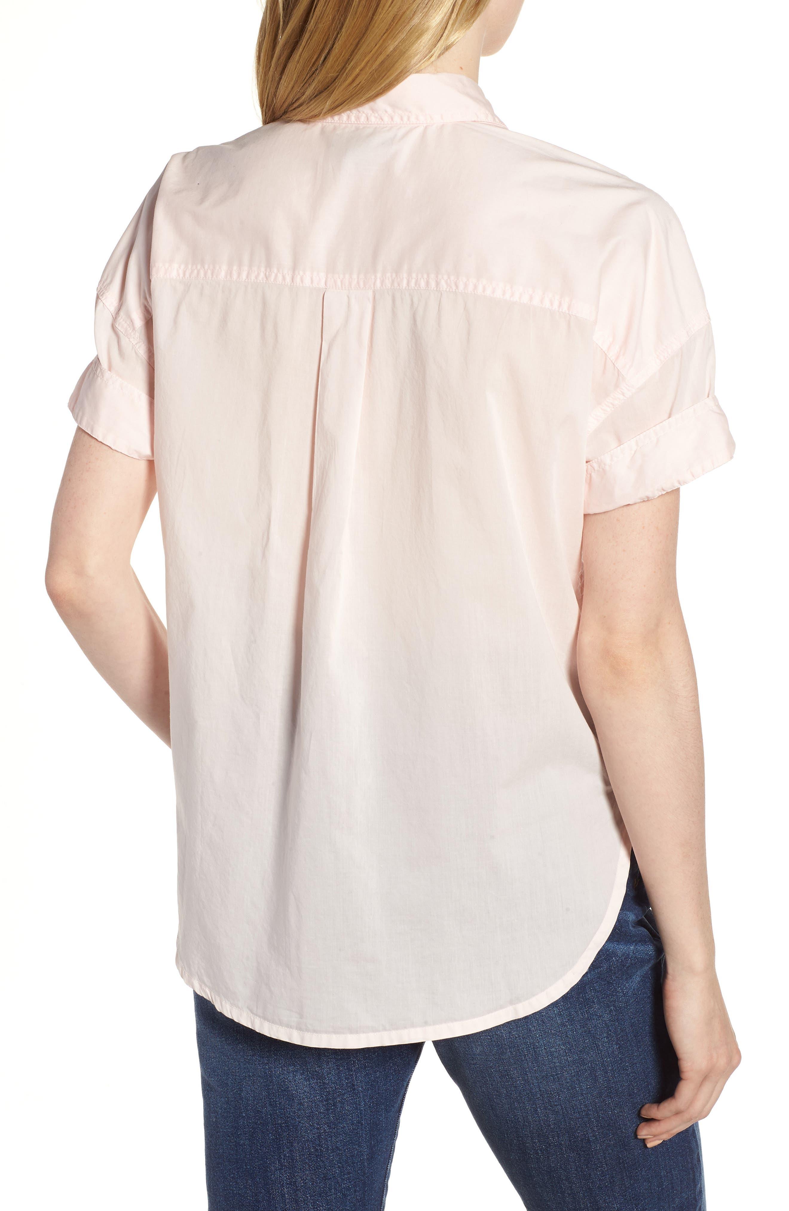 J.Crew Utility Pocket Shirt,                             Alternate thumbnail 4, color,                             Pastel Pink