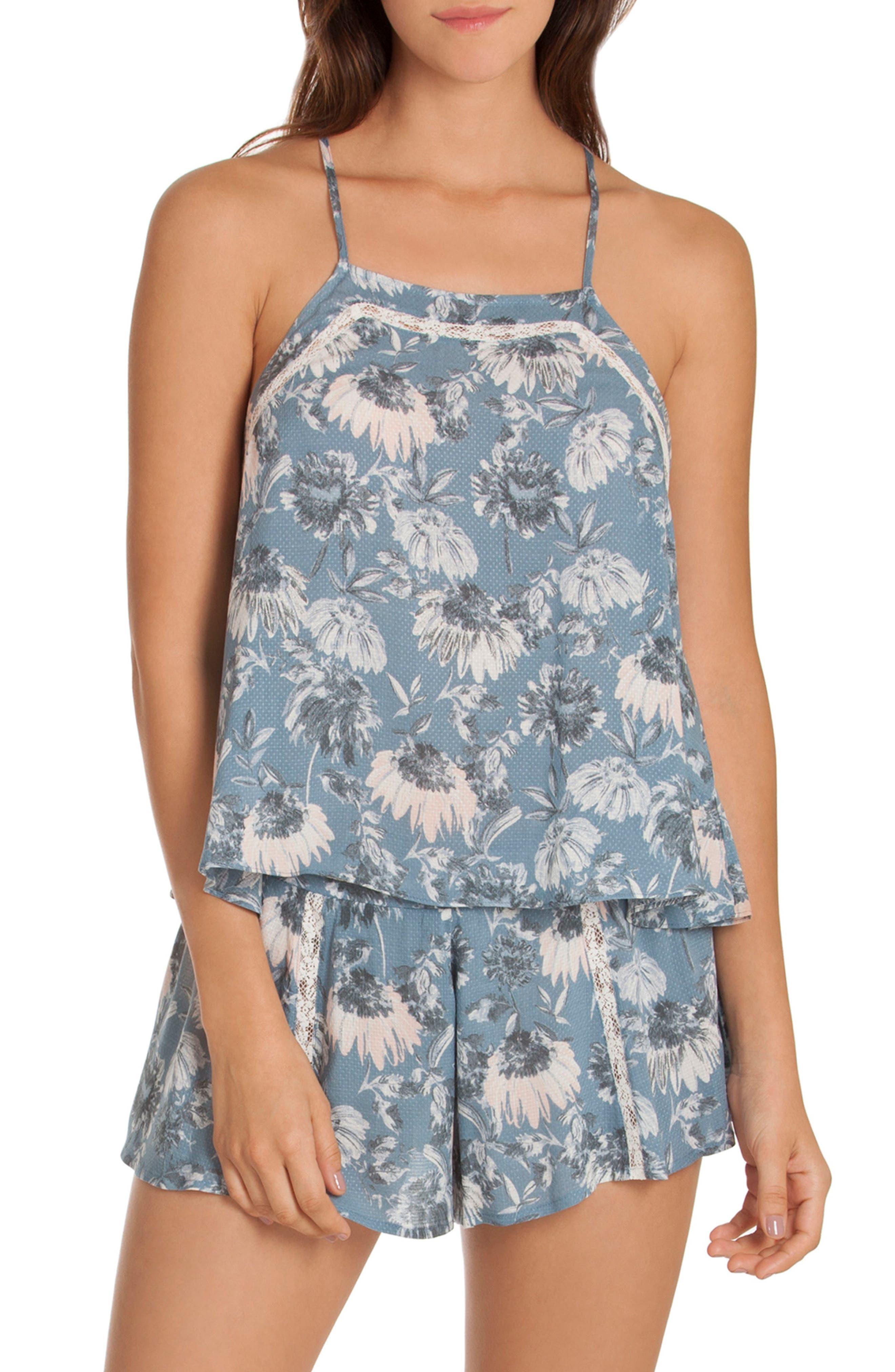 Floral Camisole,                         Main,                         color, Blue Floral