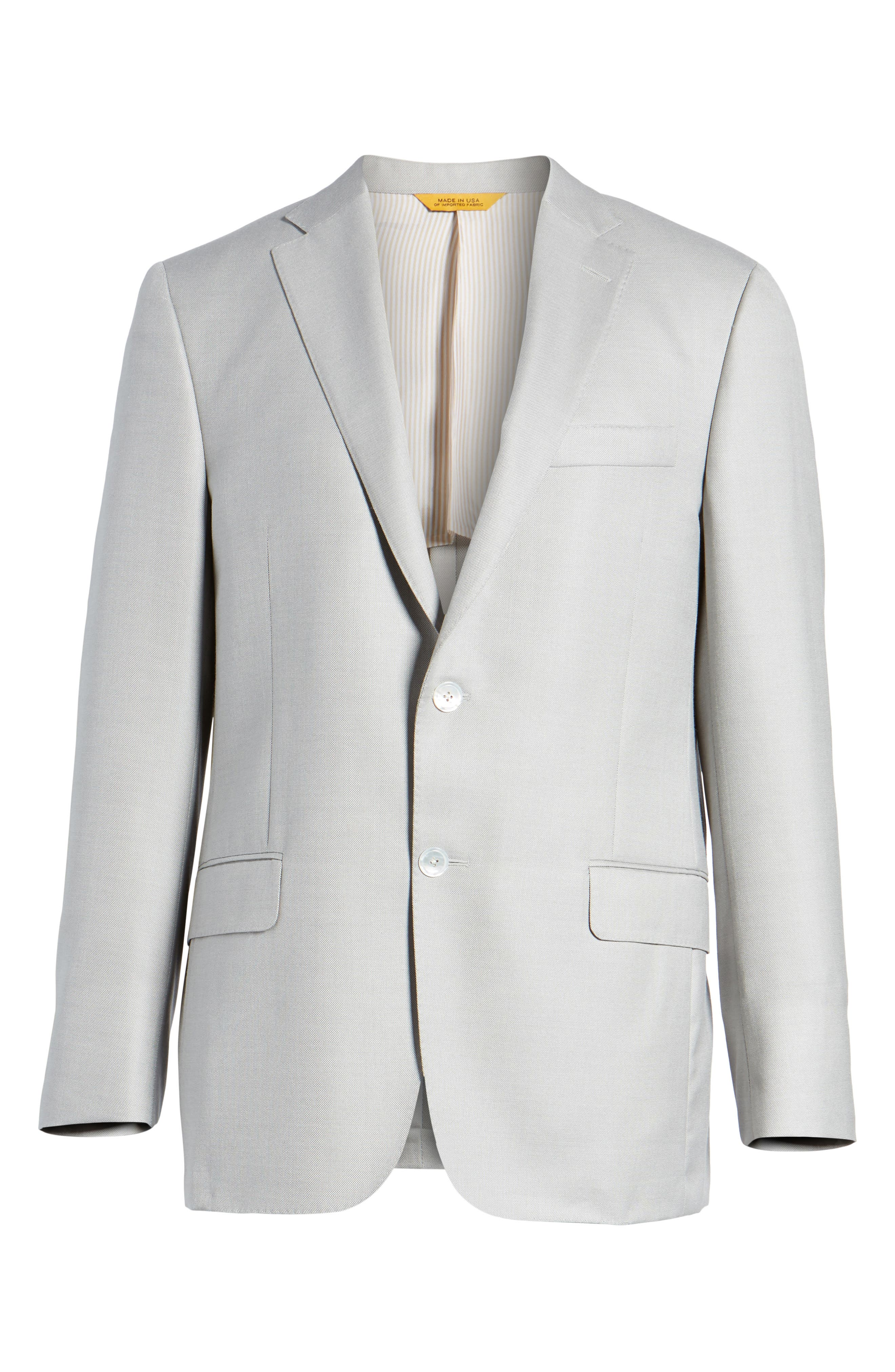 Alternate Image 6  - Hickey Freeman Classic B Fit Wool & Silk Blazer