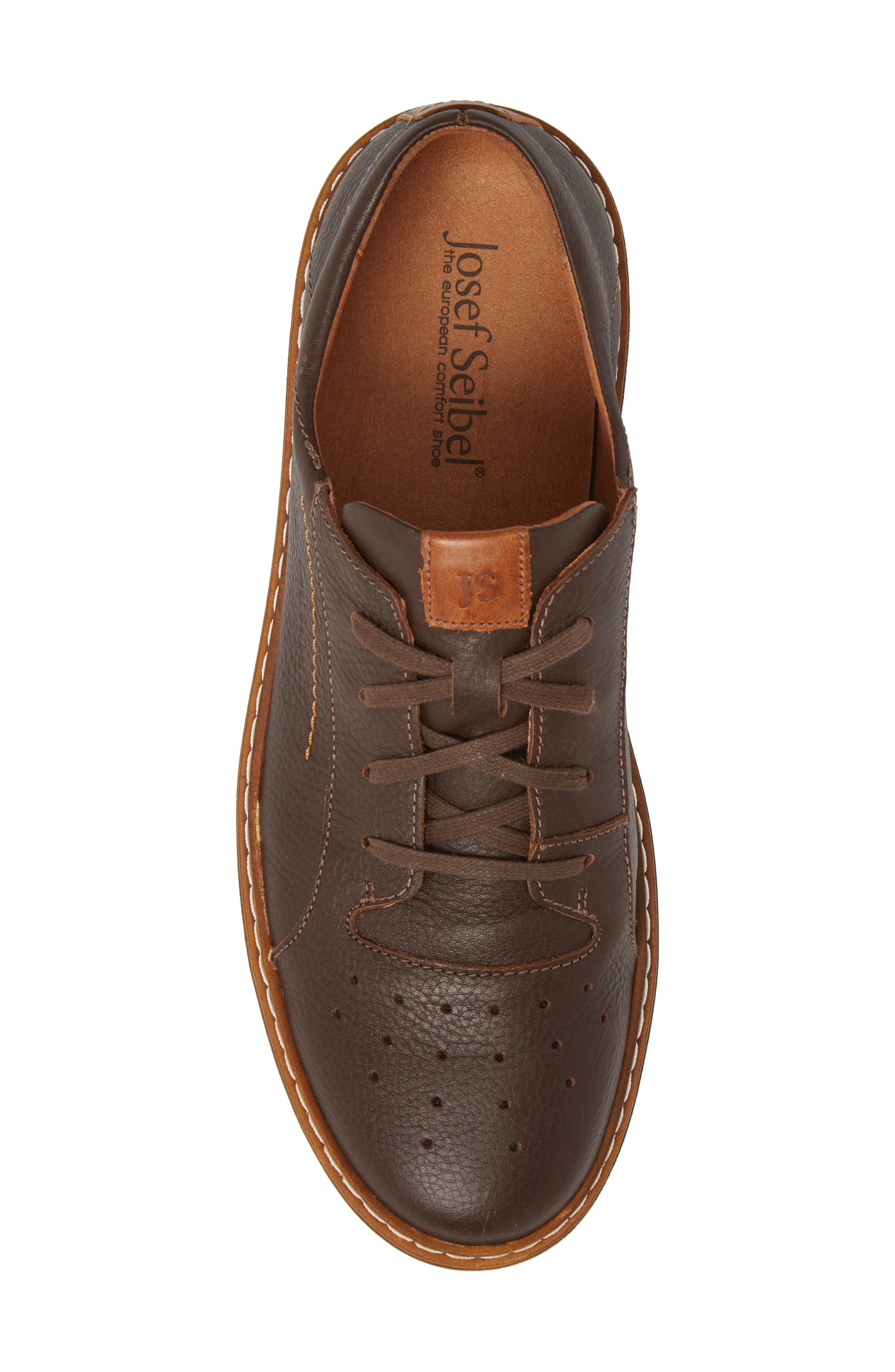 Quentin 03 Low Top Sneaker,                             Alternate thumbnail 5, color,                             Brown Kombi Leather