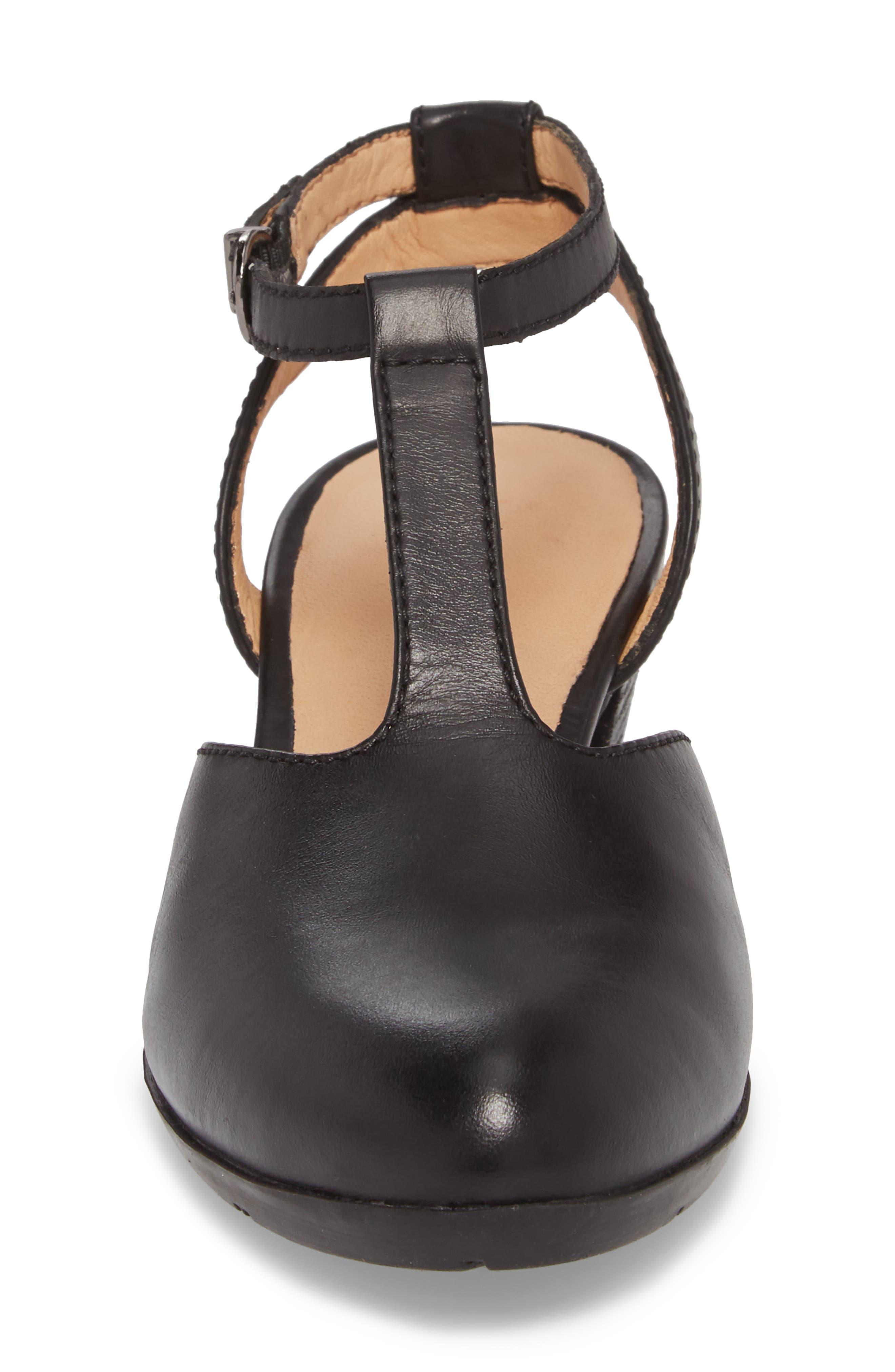 Sue 23 Pump,                             Alternate thumbnail 4, color,                             Black Leather