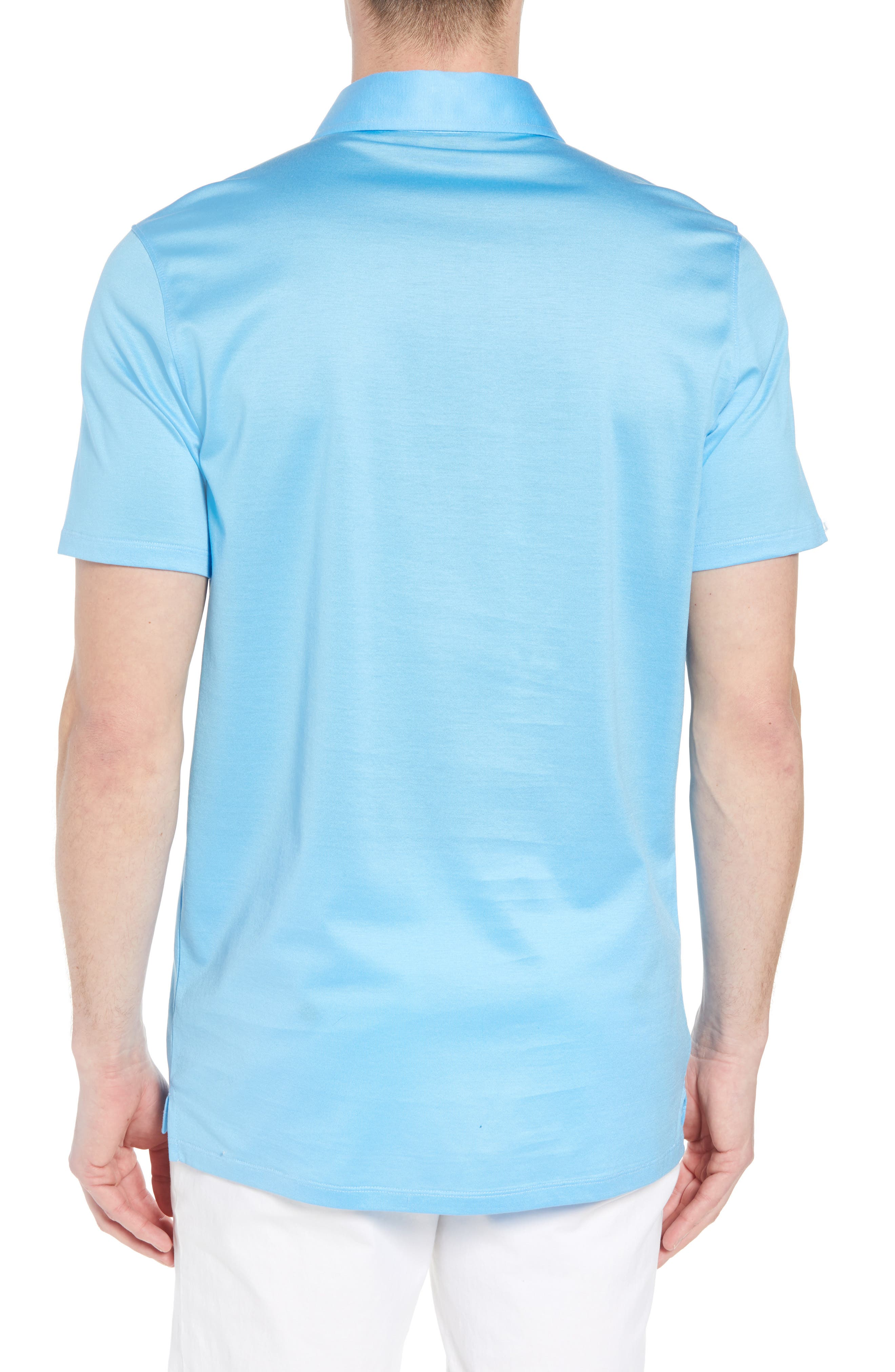 Essential Regular Fit Polo,                             Alternate thumbnail 2, color,                             Pacific