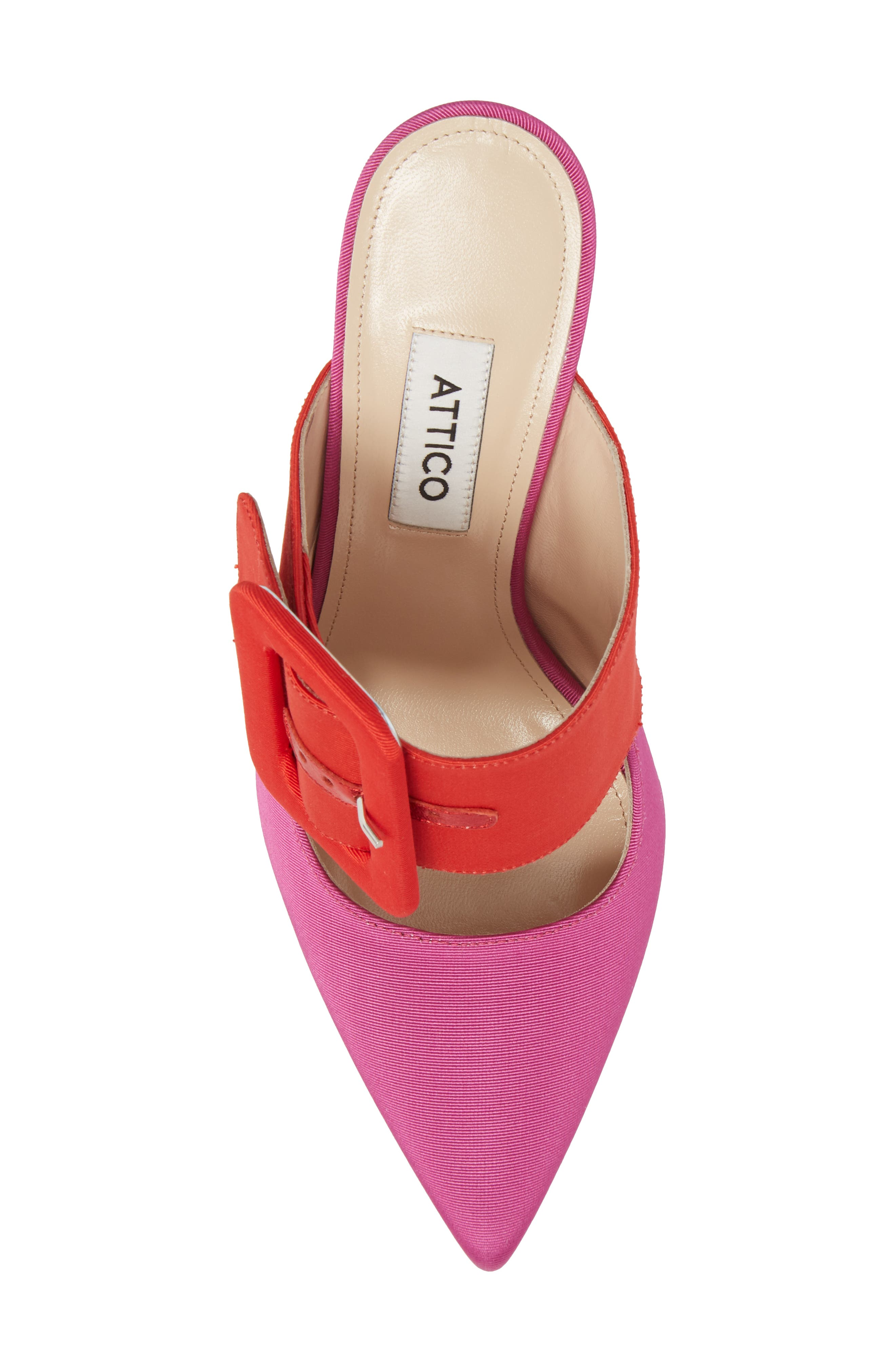 Chloé Buckle Mule,                             Alternate thumbnail 5, color,                             Pink/ Red