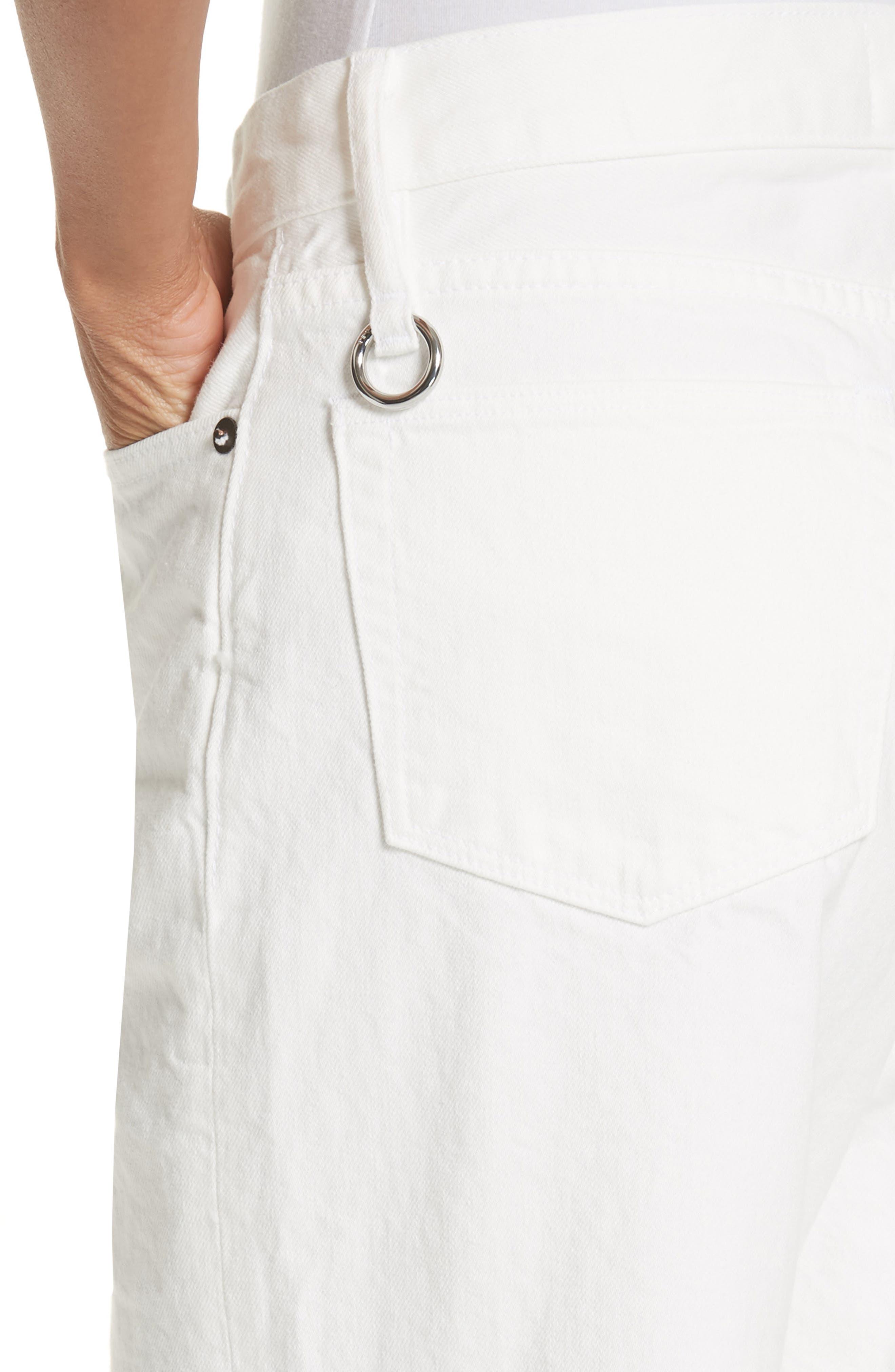 Lamere Wide Leg Crop Jeans,                             Alternate thumbnail 4, color,                             White