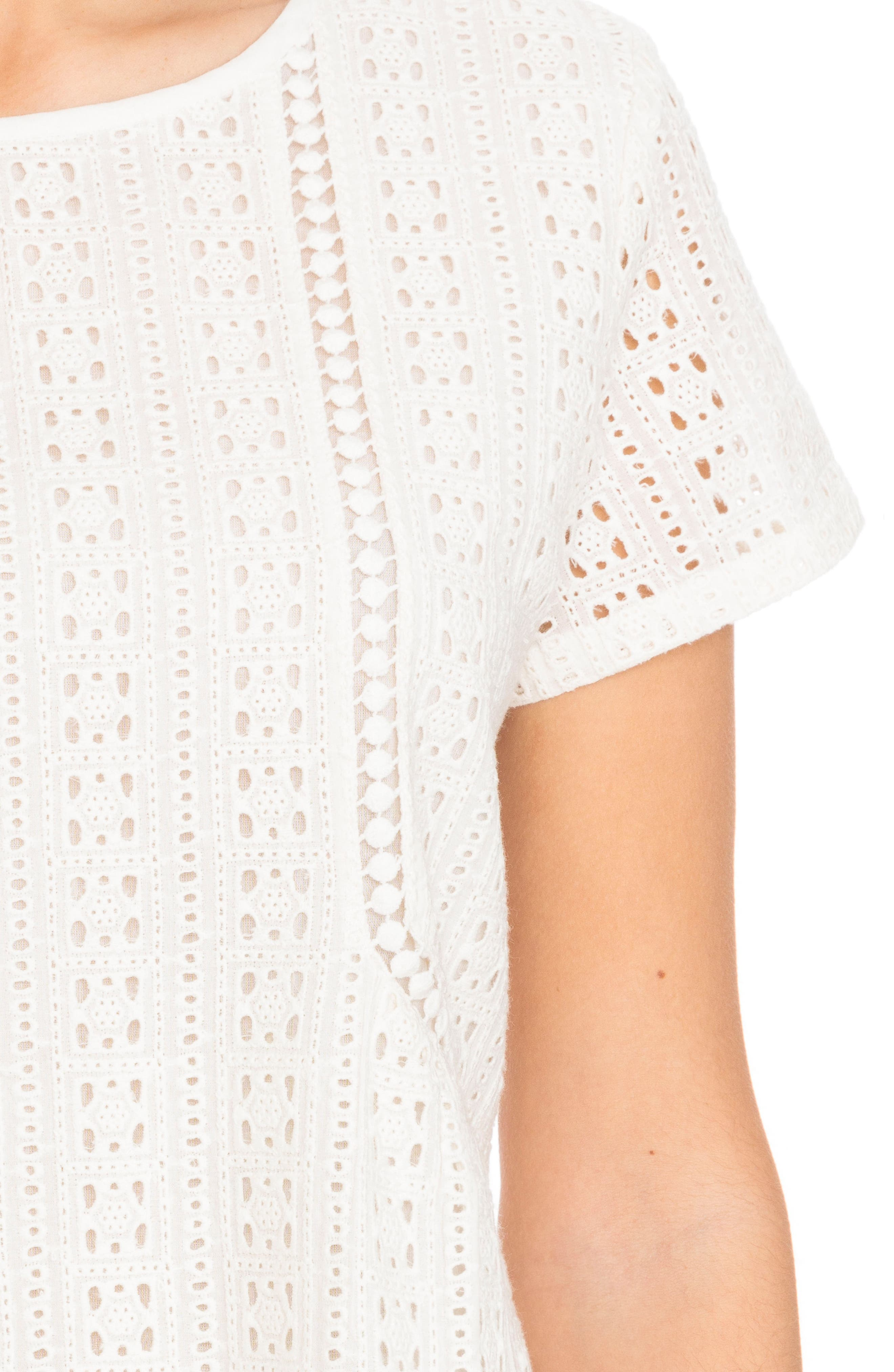 Clo Crochet Blouse,                             Alternate thumbnail 4, color,                             Off White