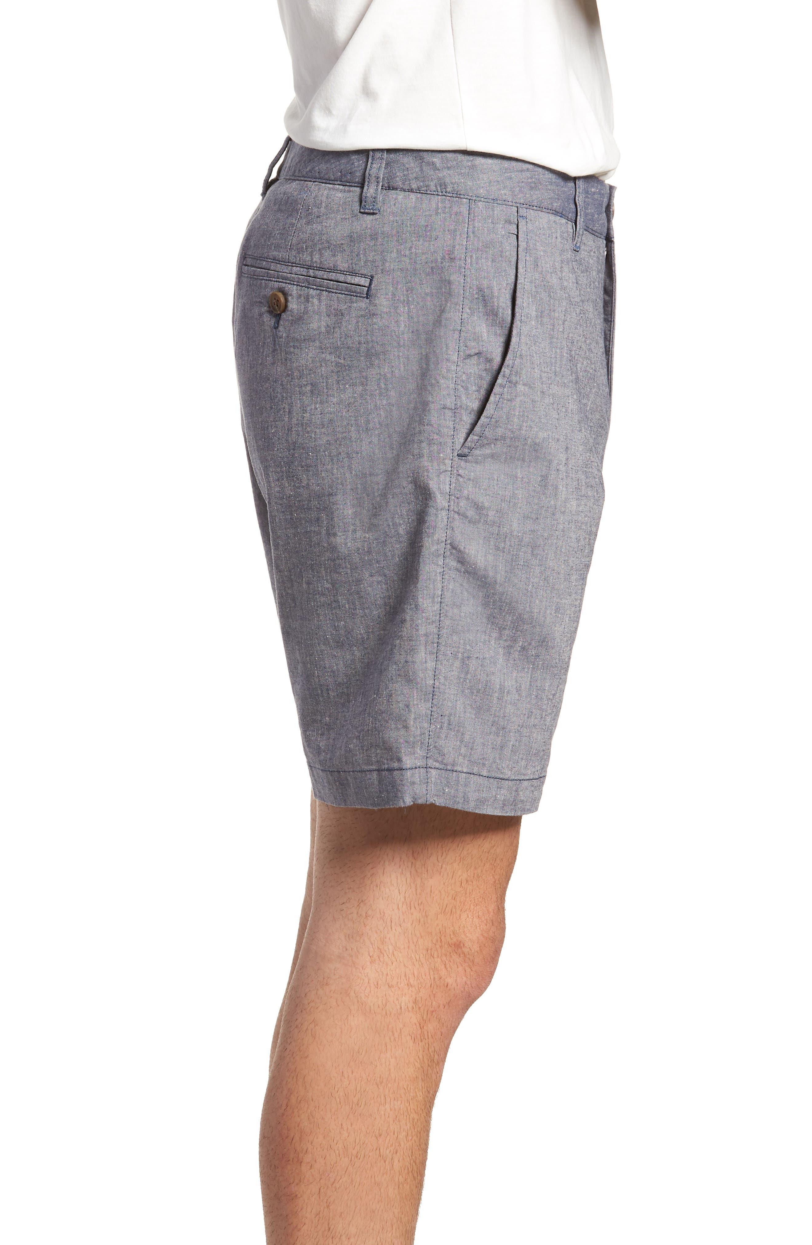 Novelty Chino Shorts,                             Alternate thumbnail 3, color,                             Grey Chambray