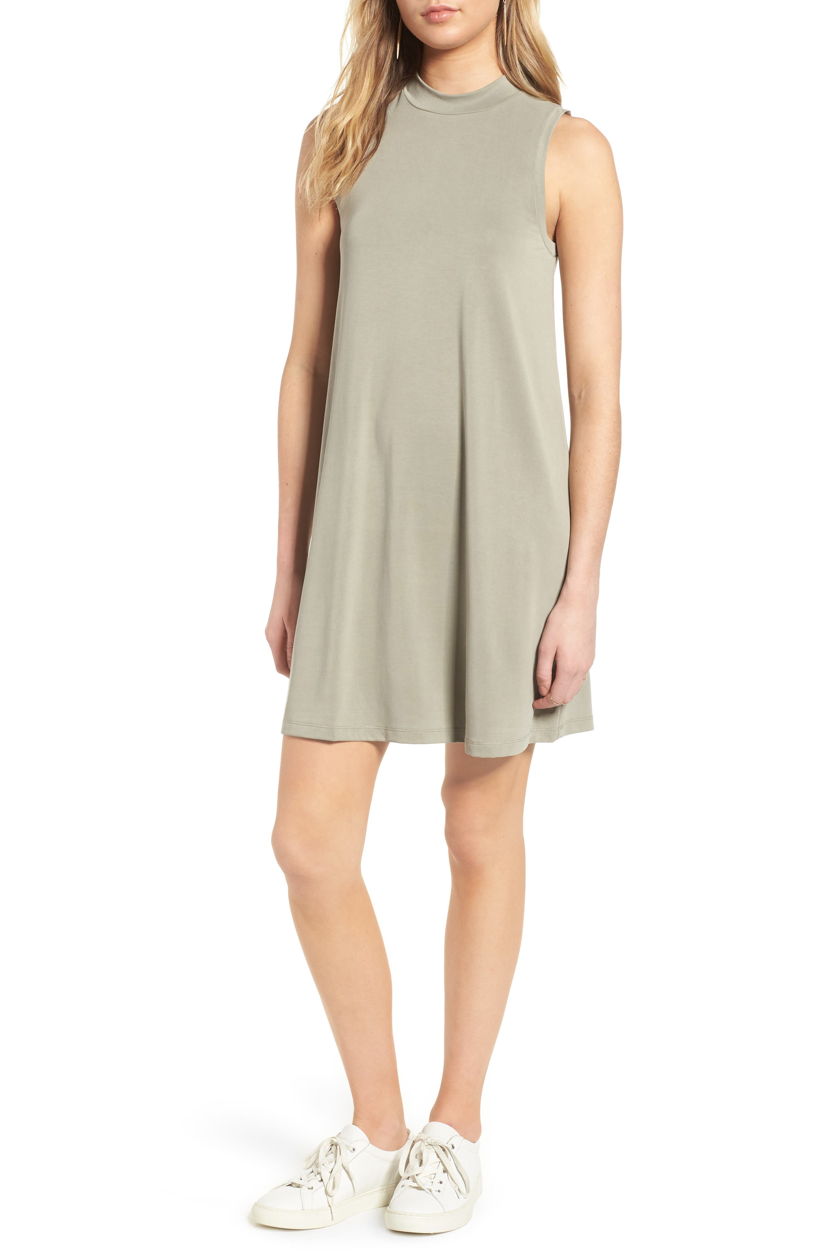Madewell Sandwashed Mock Neck Tank Dress