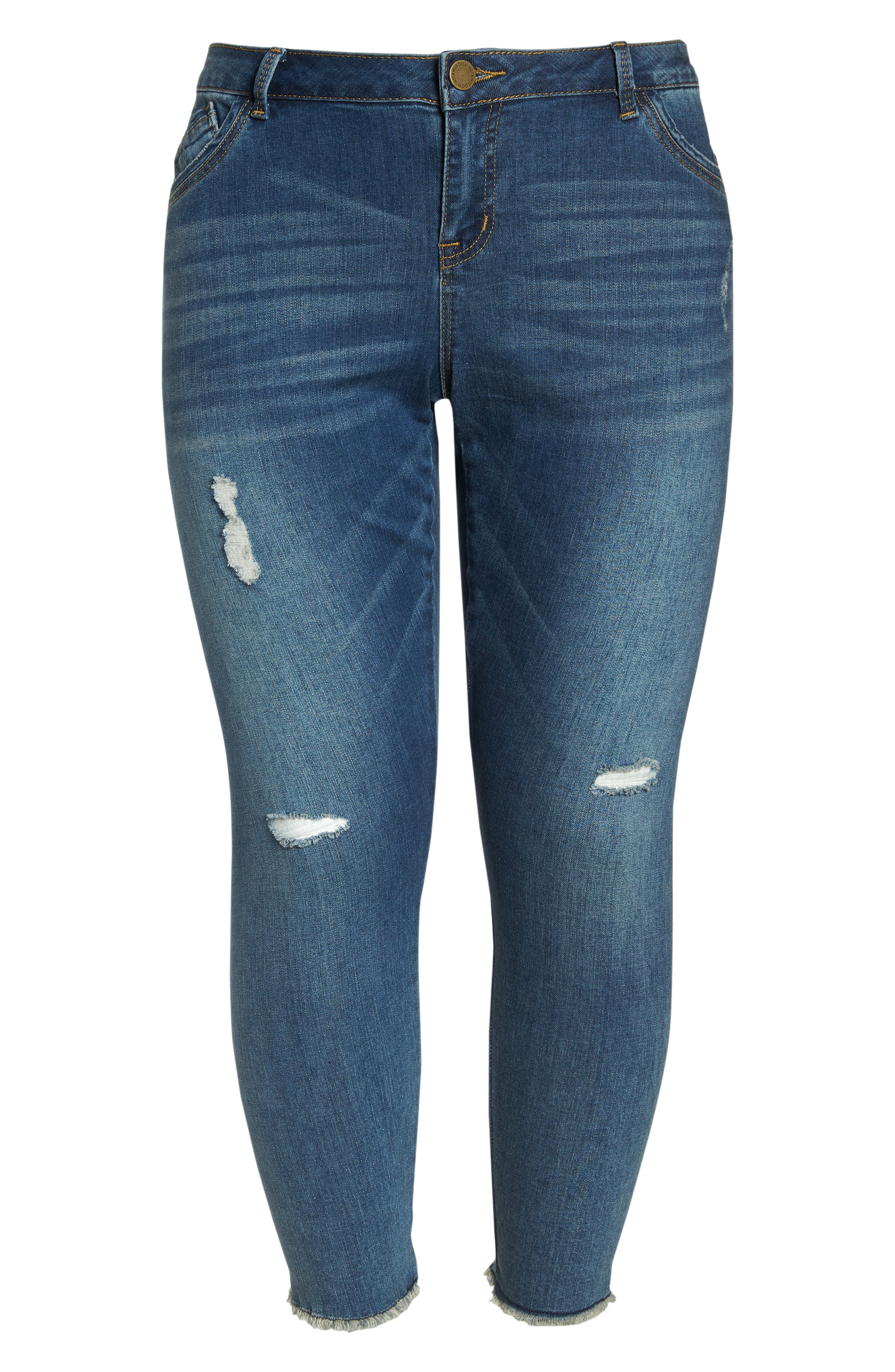 Seamless Ankle Skimmer Jeans,                             Alternate thumbnail 6, color,                             Blue