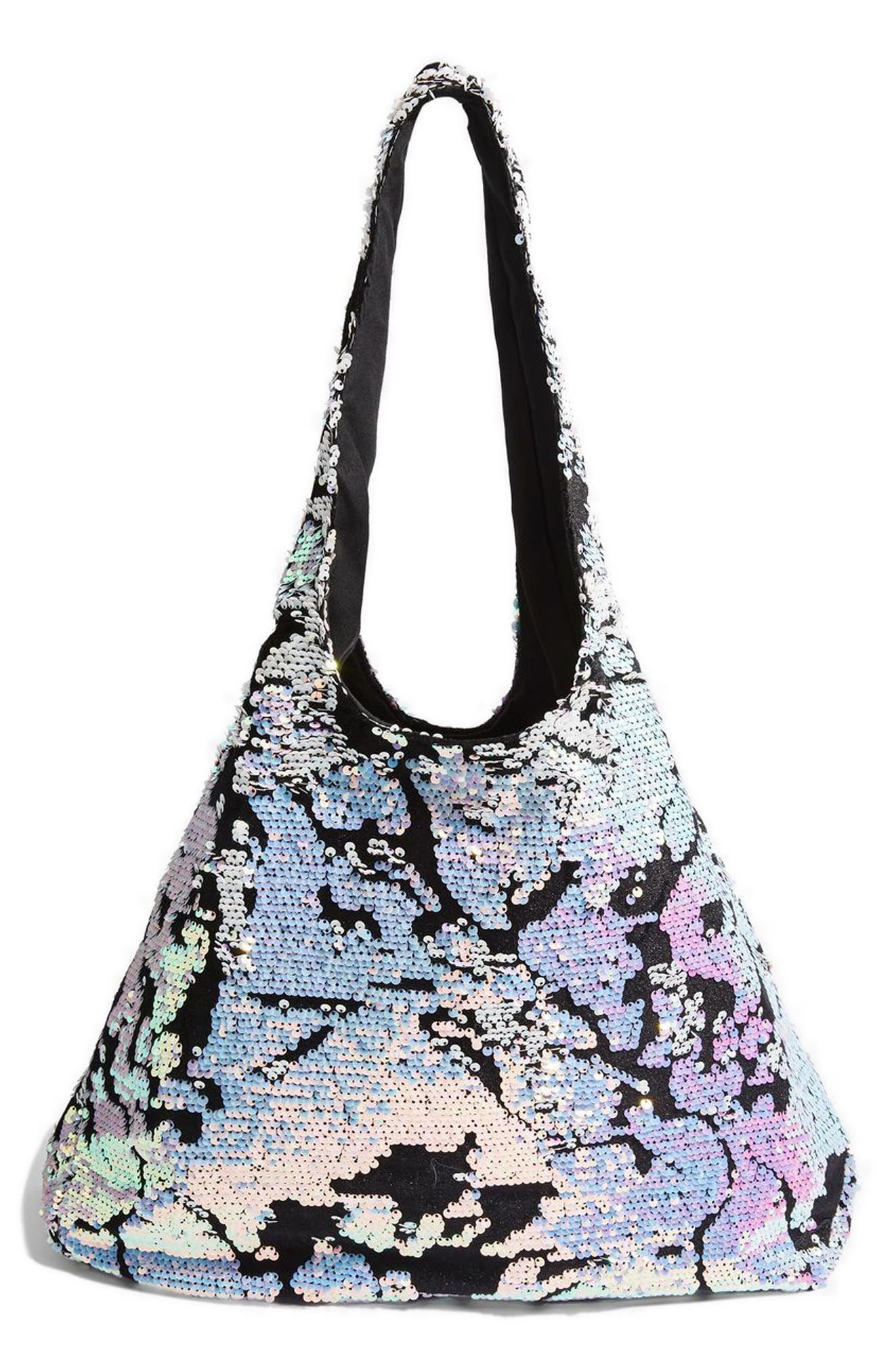 Topshop Freedom Sequin Shoulder Bag