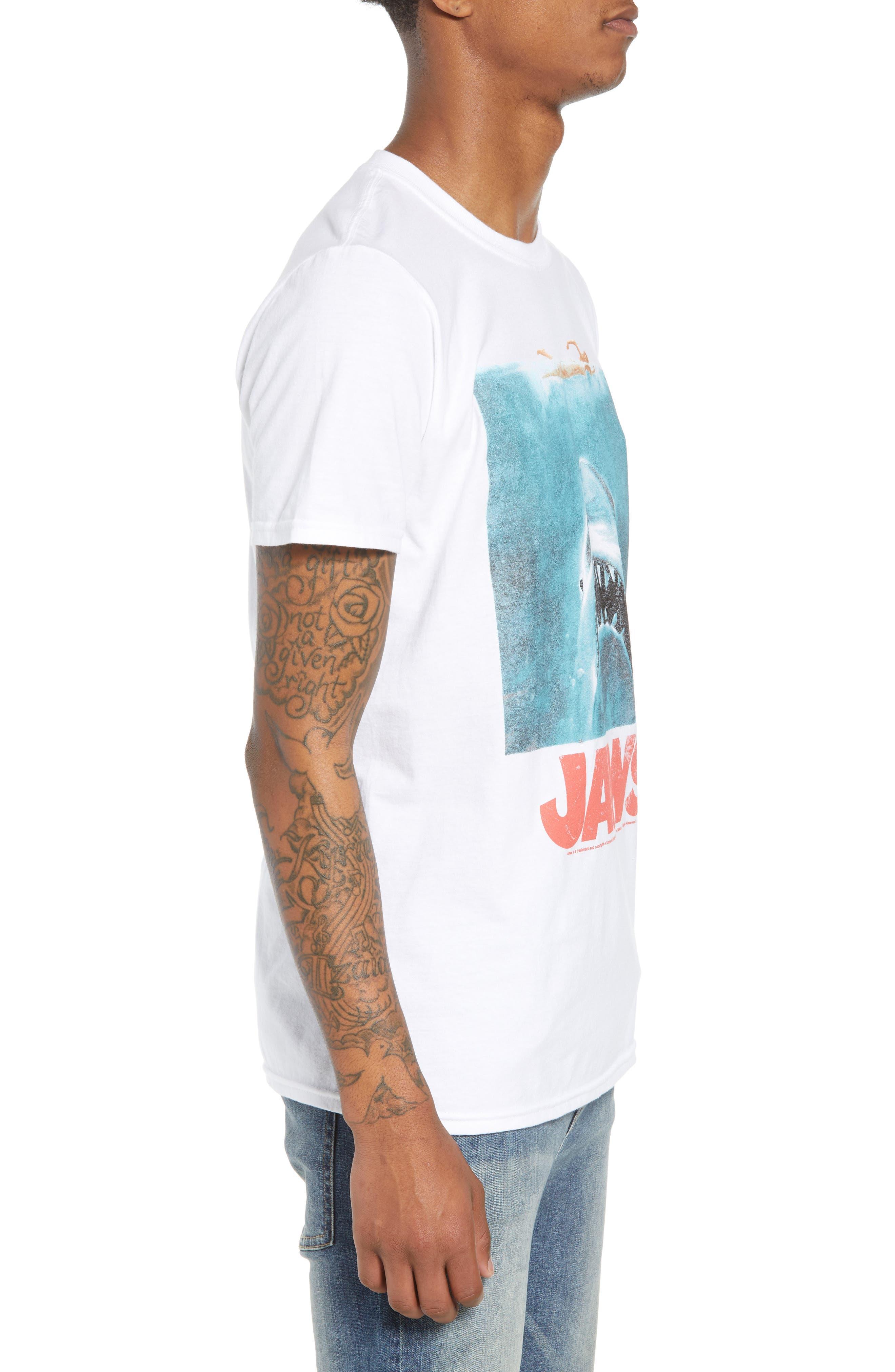 Jaws T-Shirt,                             Alternate thumbnail 2, color,                             White Jaws