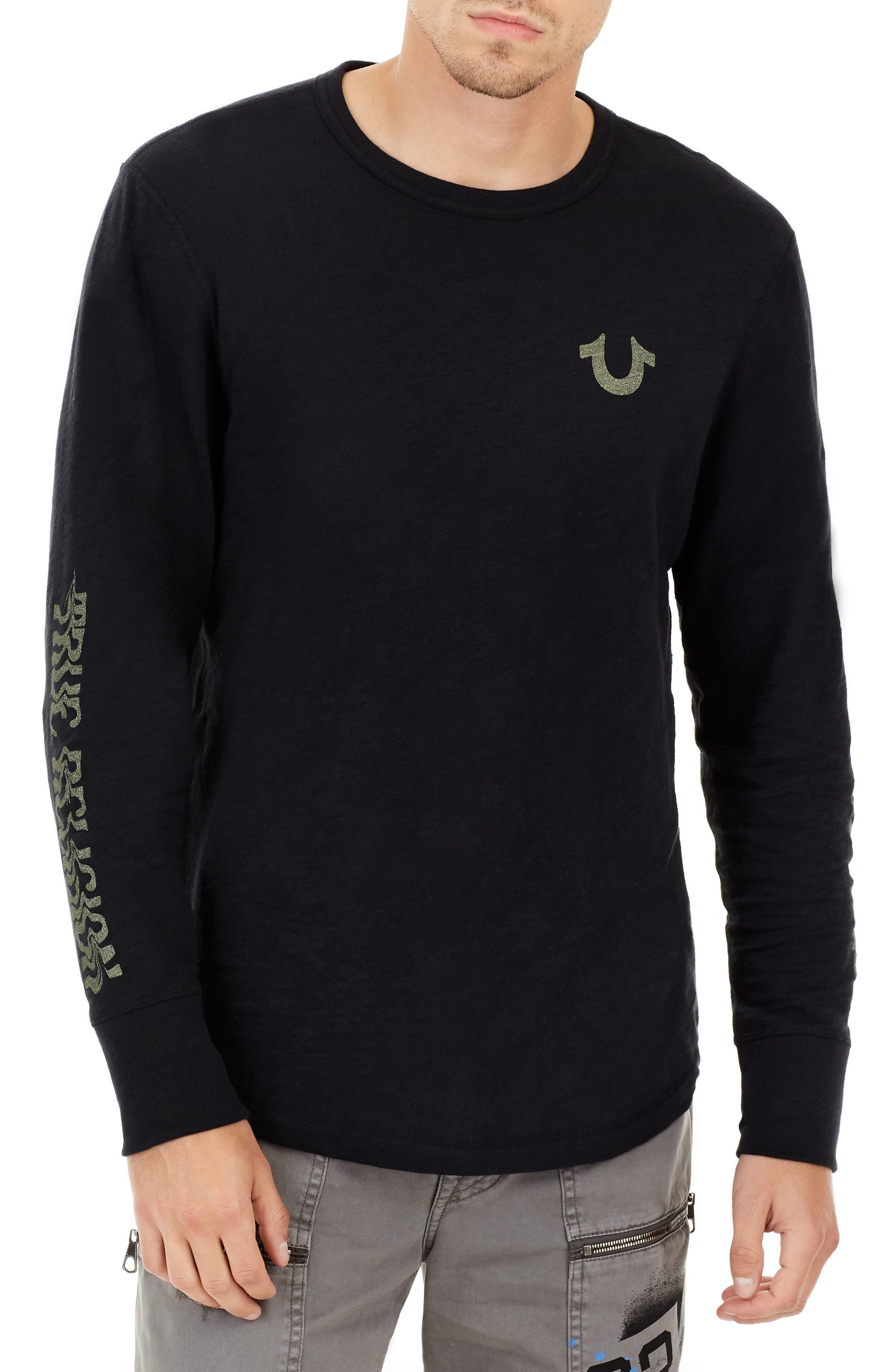 True Religion Brand Jeans Distorted Logo T-Shirt