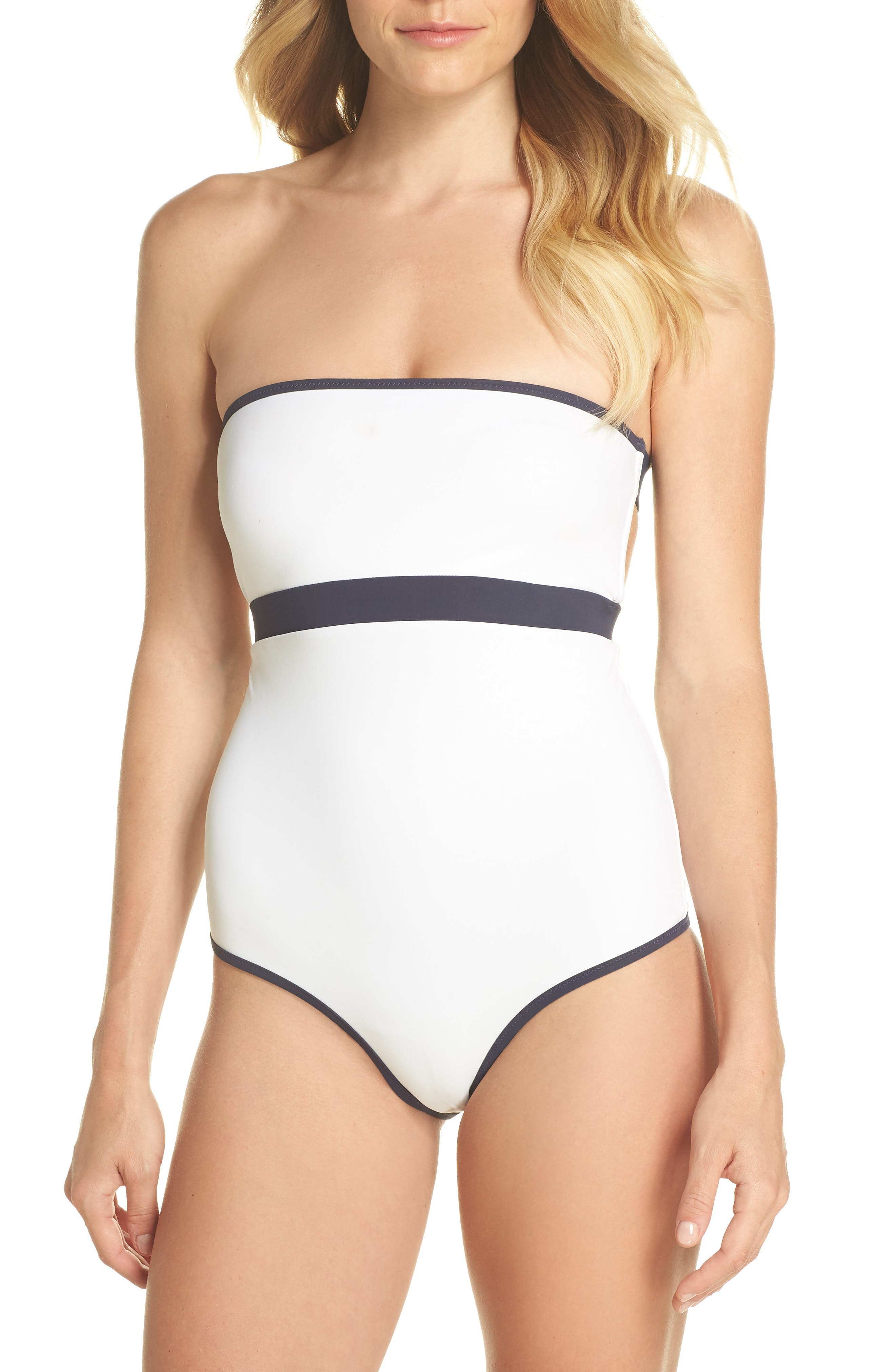 BB Reversible One-Piece Swimsuit,                             Alternate thumbnail 2, color,                             White/ Navy