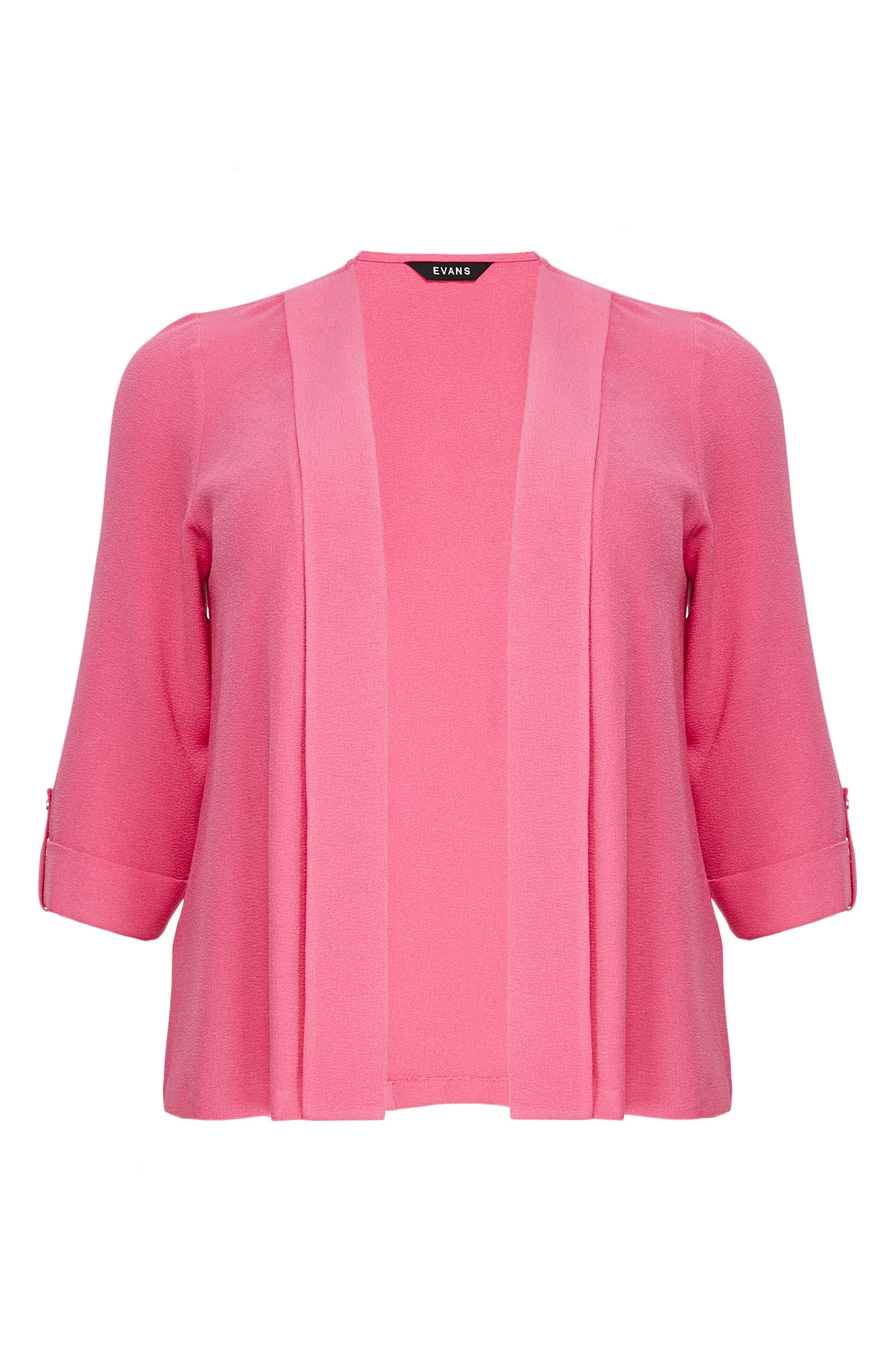 Three-Quarter Sleeve Jacket,                         Main,                         color, Pink
