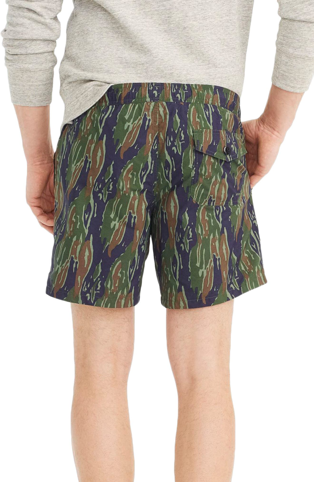 J.Crew Camo Swim Trunks,                             Alternate thumbnail 2, color,                             Tiger Stripe Camo