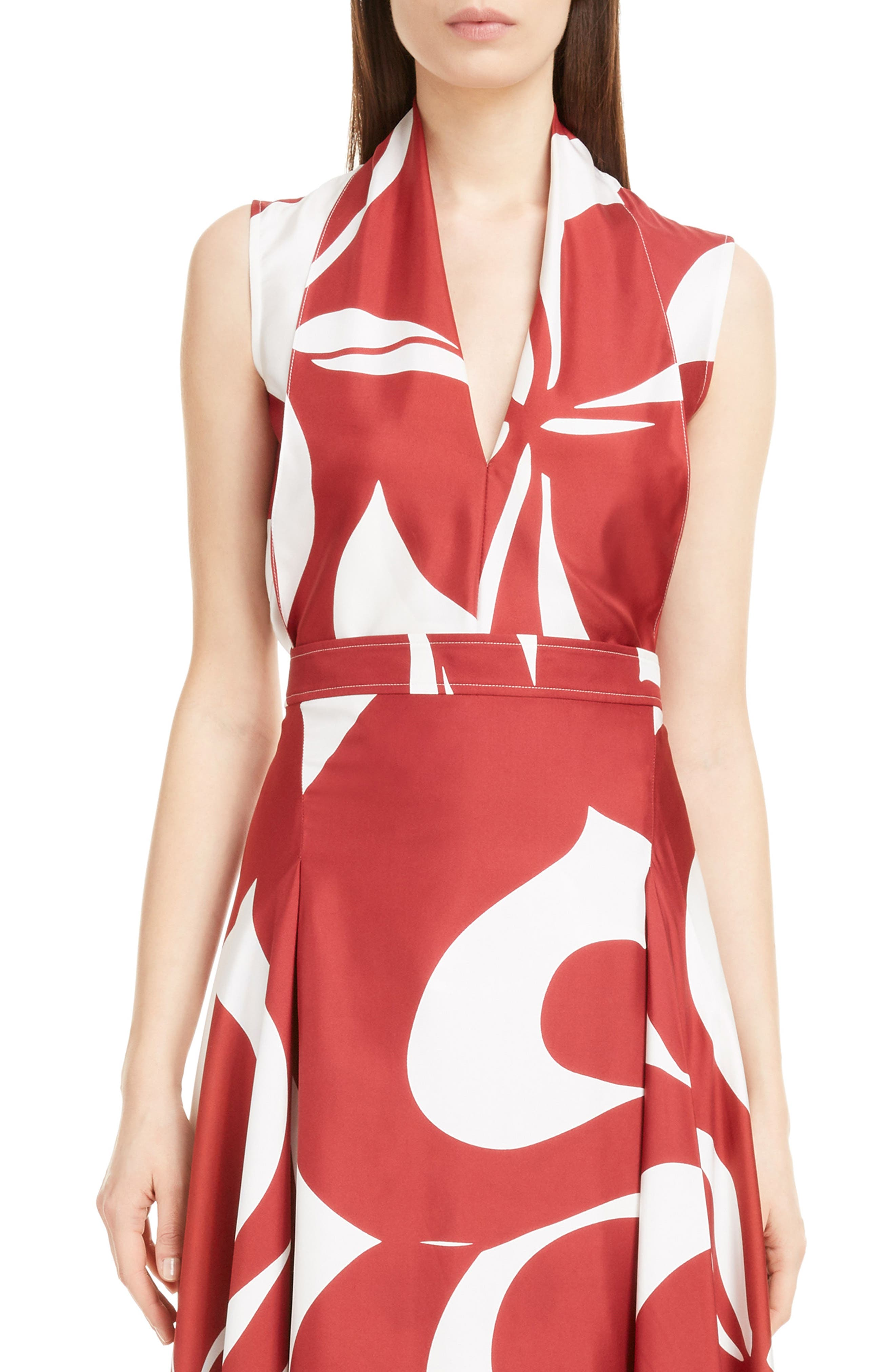 Victoria Beckham Drape Front Silk Top