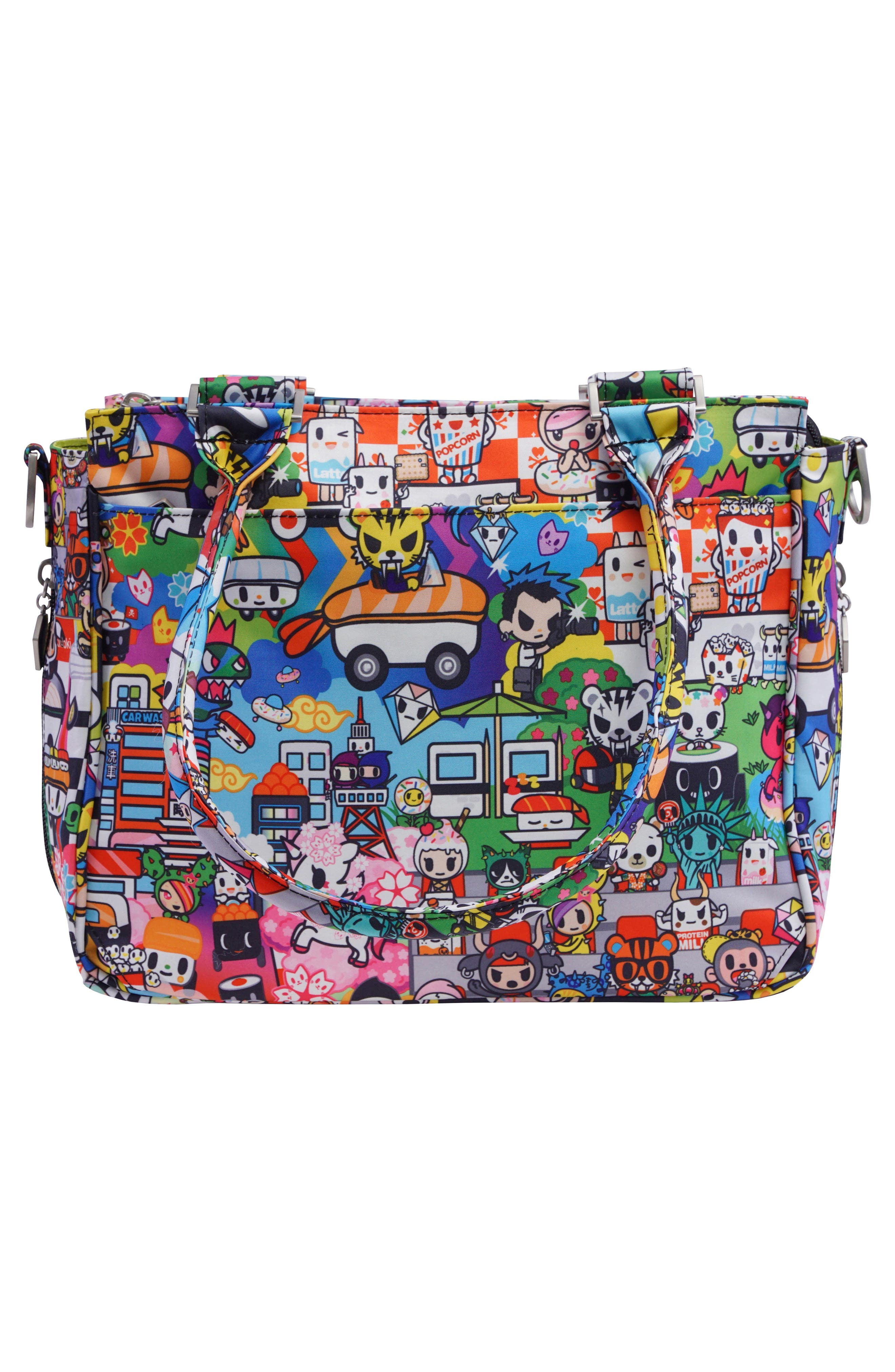 x tokidoki Be Sassy Diaper Tote Bag,                             Alternate thumbnail 5, color,                             Sushi Cars