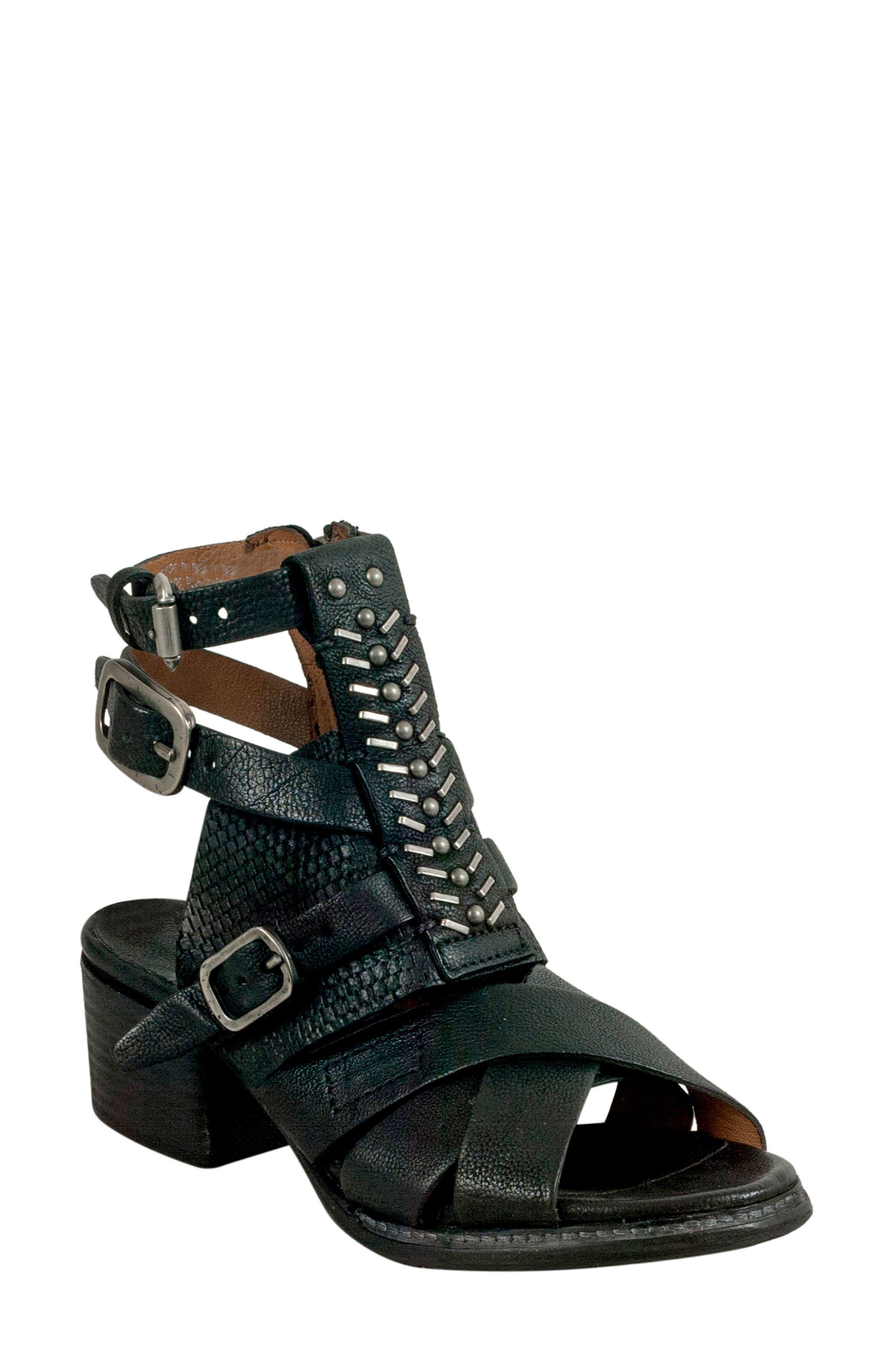 A.S.98 Pennie Gladiator Sandal, Black