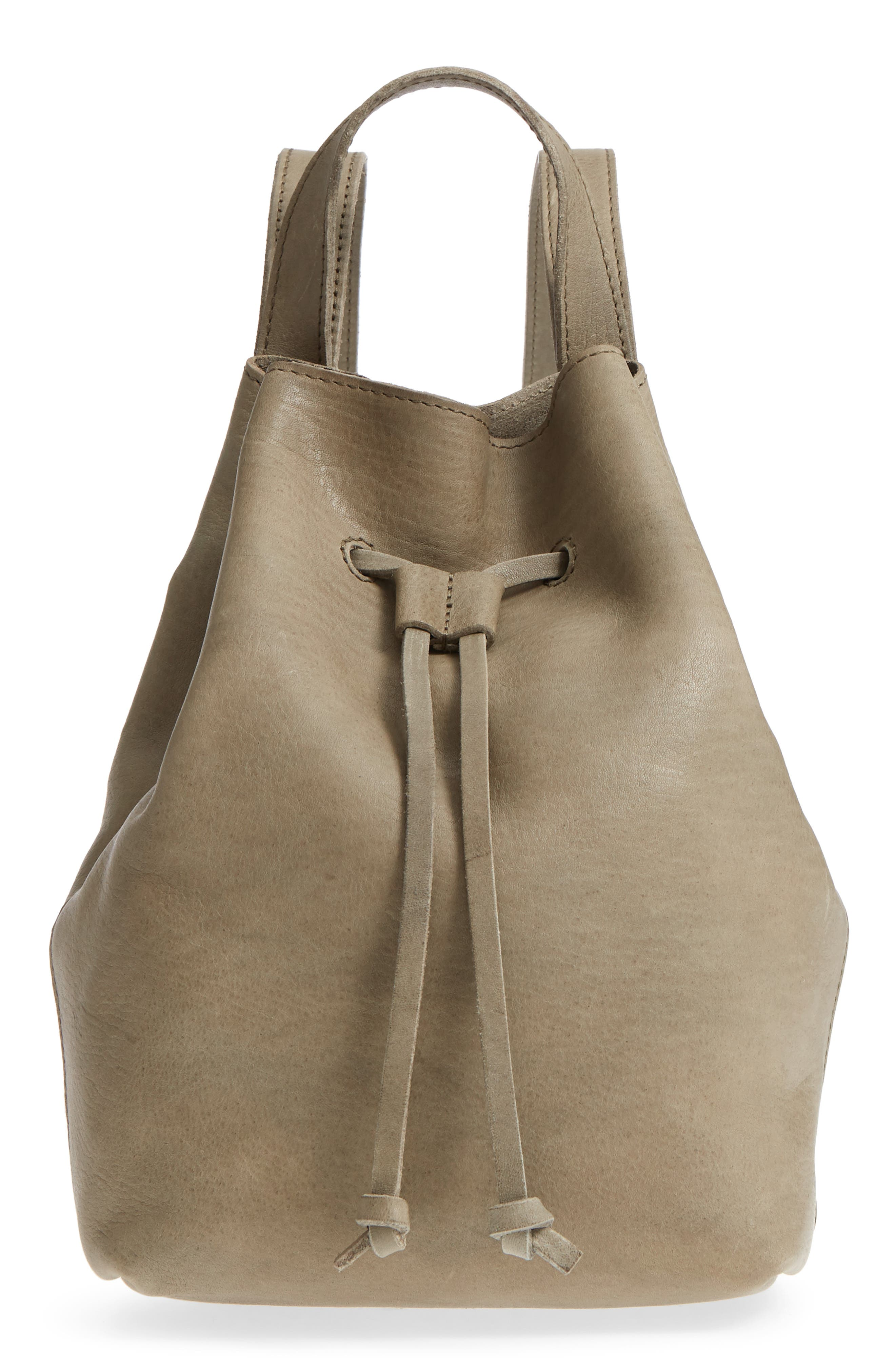 MINI SOMERSET LEATHER BACKPACK - GREEN