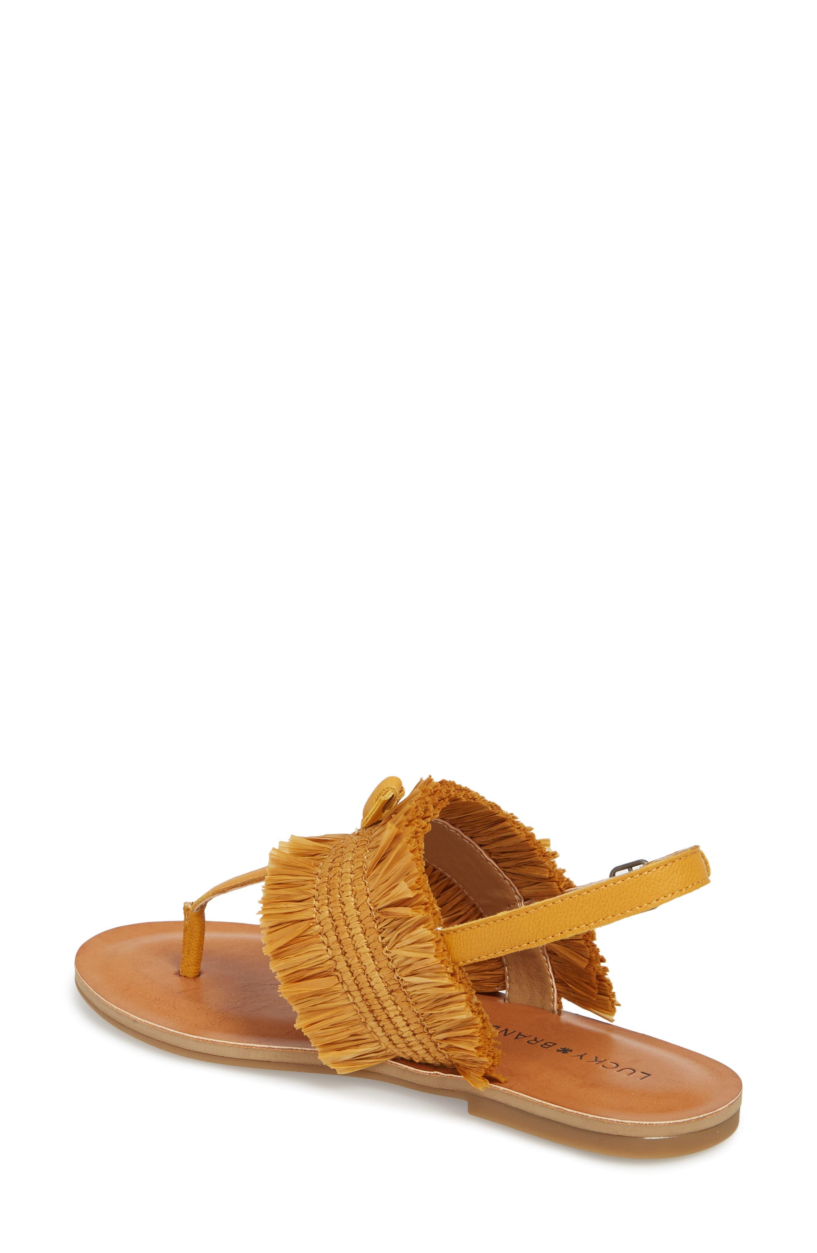Akerlei Sandal,                             Alternate thumbnail 2, color,                             Saffron Leather
