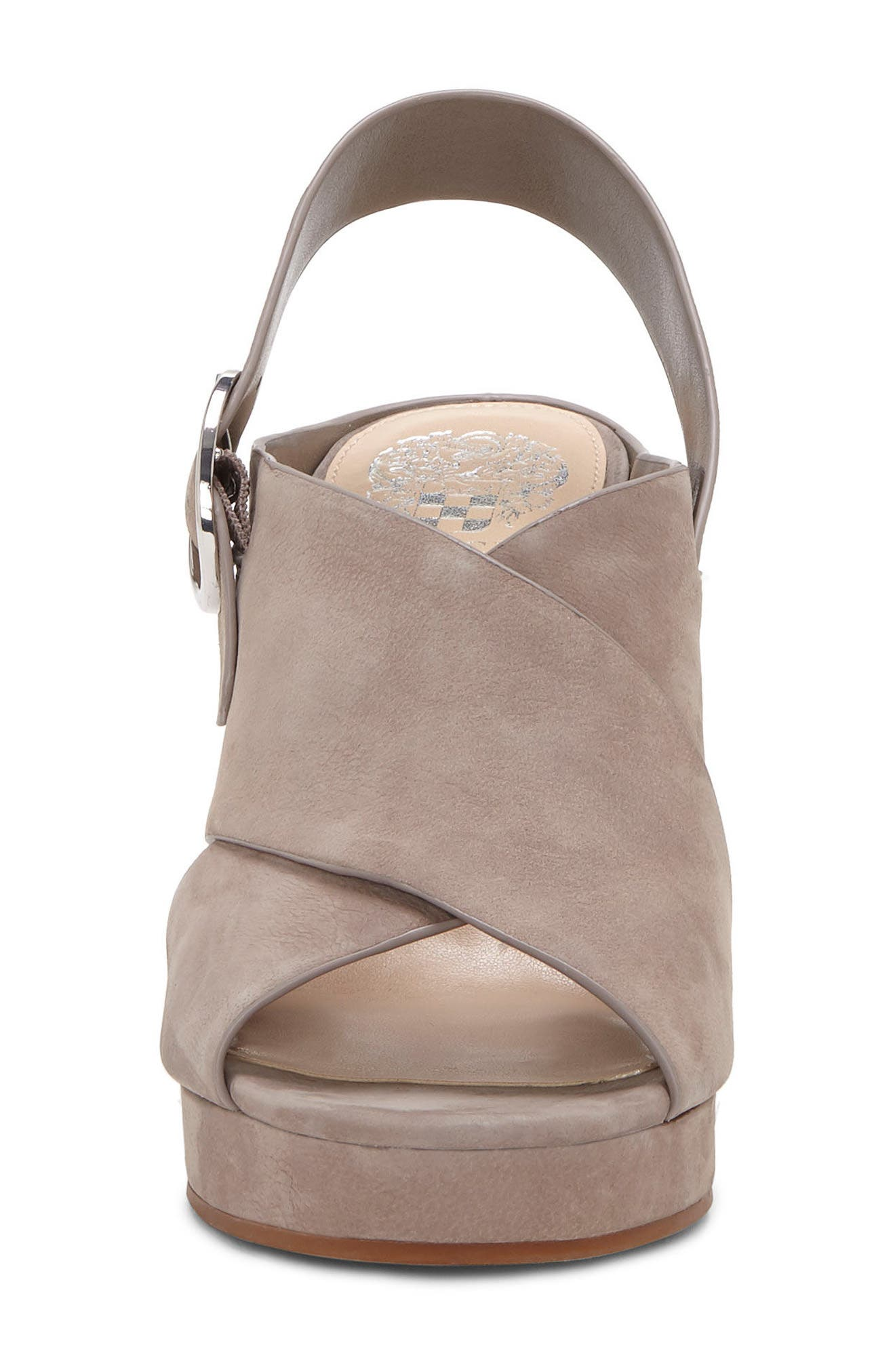 Iteena Wedge Sandal,                             Alternate thumbnail 5, color,                             Hippo Grey Leather