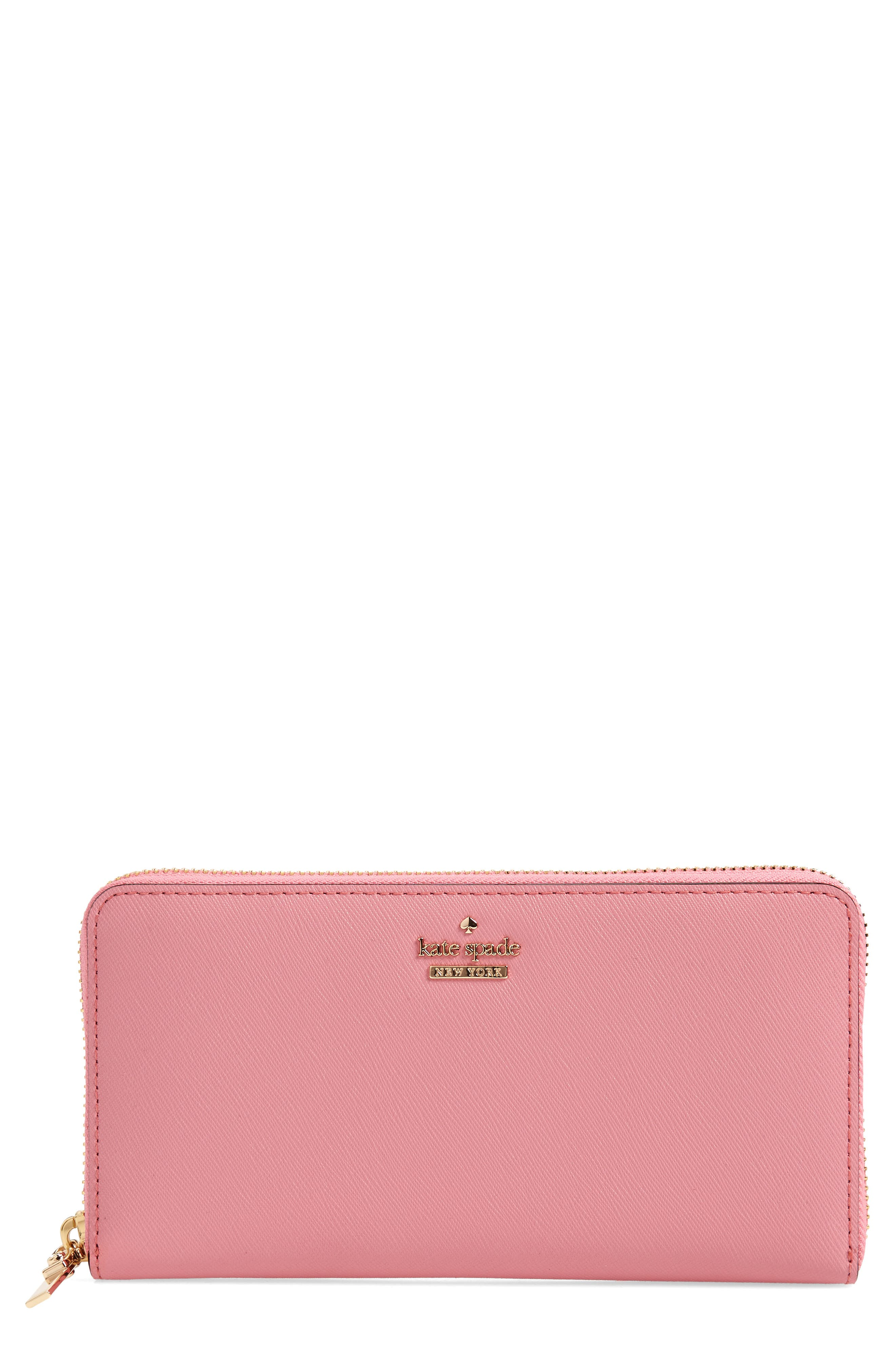 'cameron street - lacey' leather wallet,                         Main,                         color, Pink Majolica