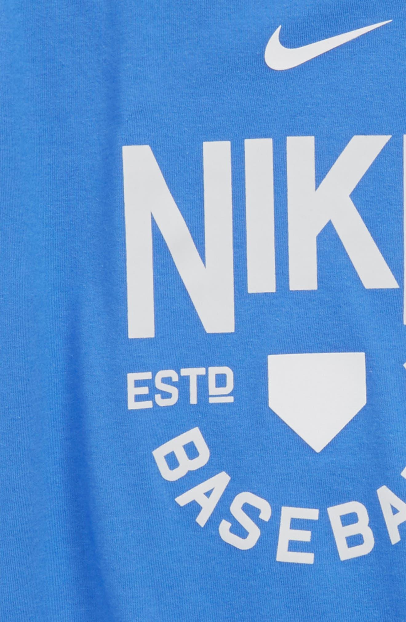 Dry Baseball Logo Graphic T-Shirt,                             Alternate thumbnail 2, color,                             Light Racer Blue