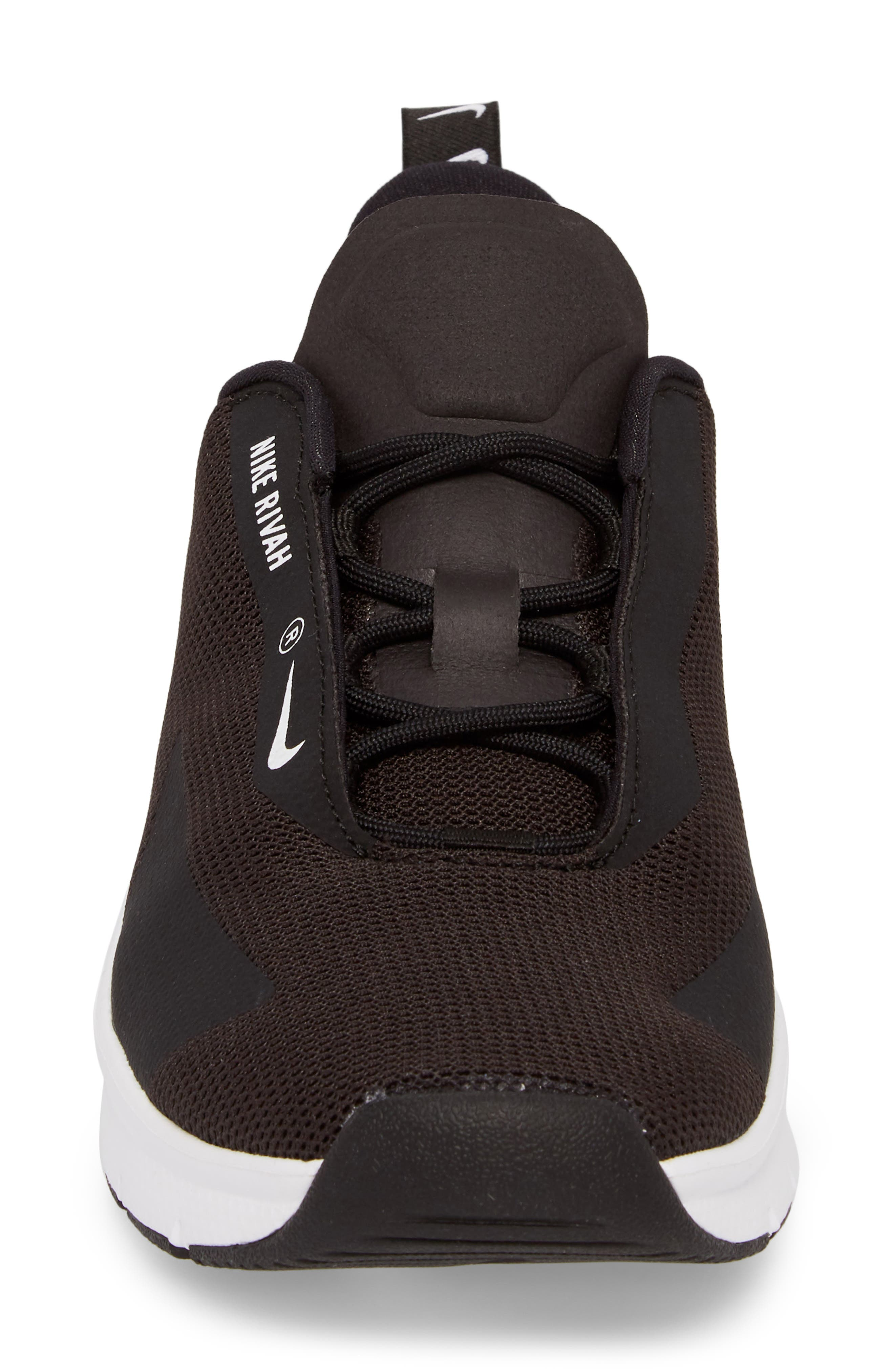Rivah Sneaker,                             Alternate thumbnail 4, color,                             Black/ Black/ White