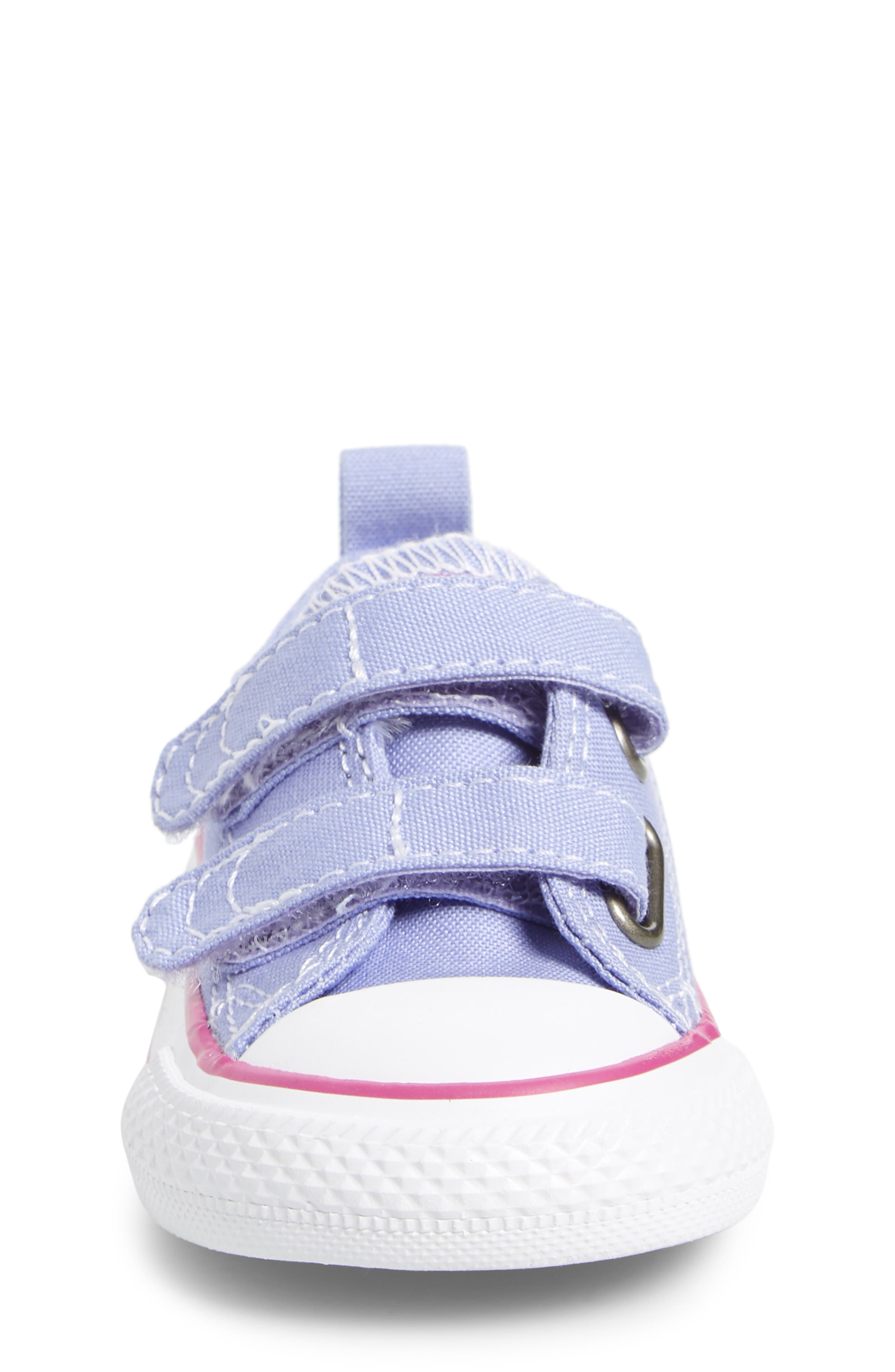 All Star<sup>®</sup> 2V Low Top Sneaker,                             Alternate thumbnail 4, color,                             Twilight Purple