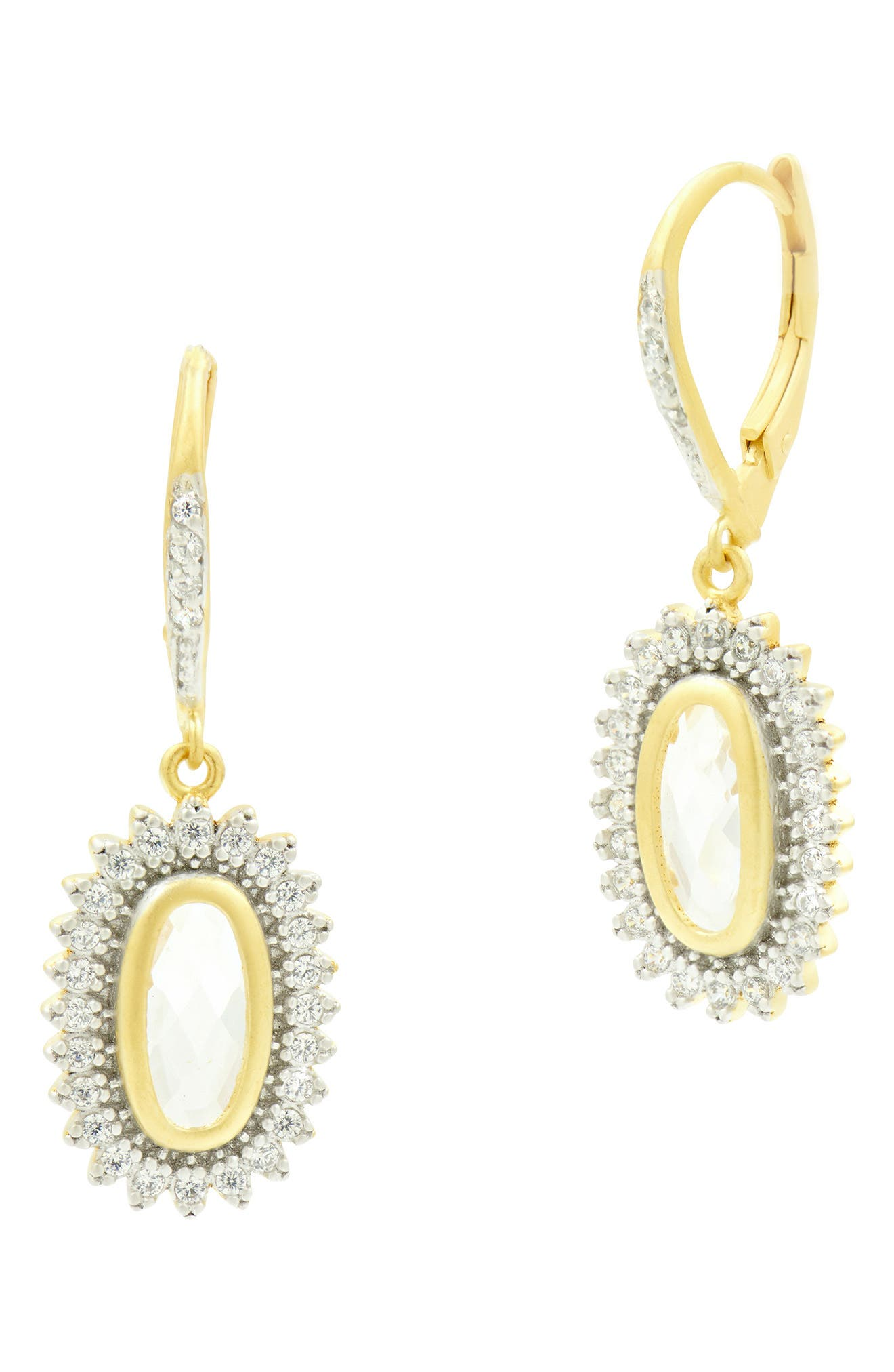FREIDA ROTHMAN Fleur Bloom Blossom Drop Earrings