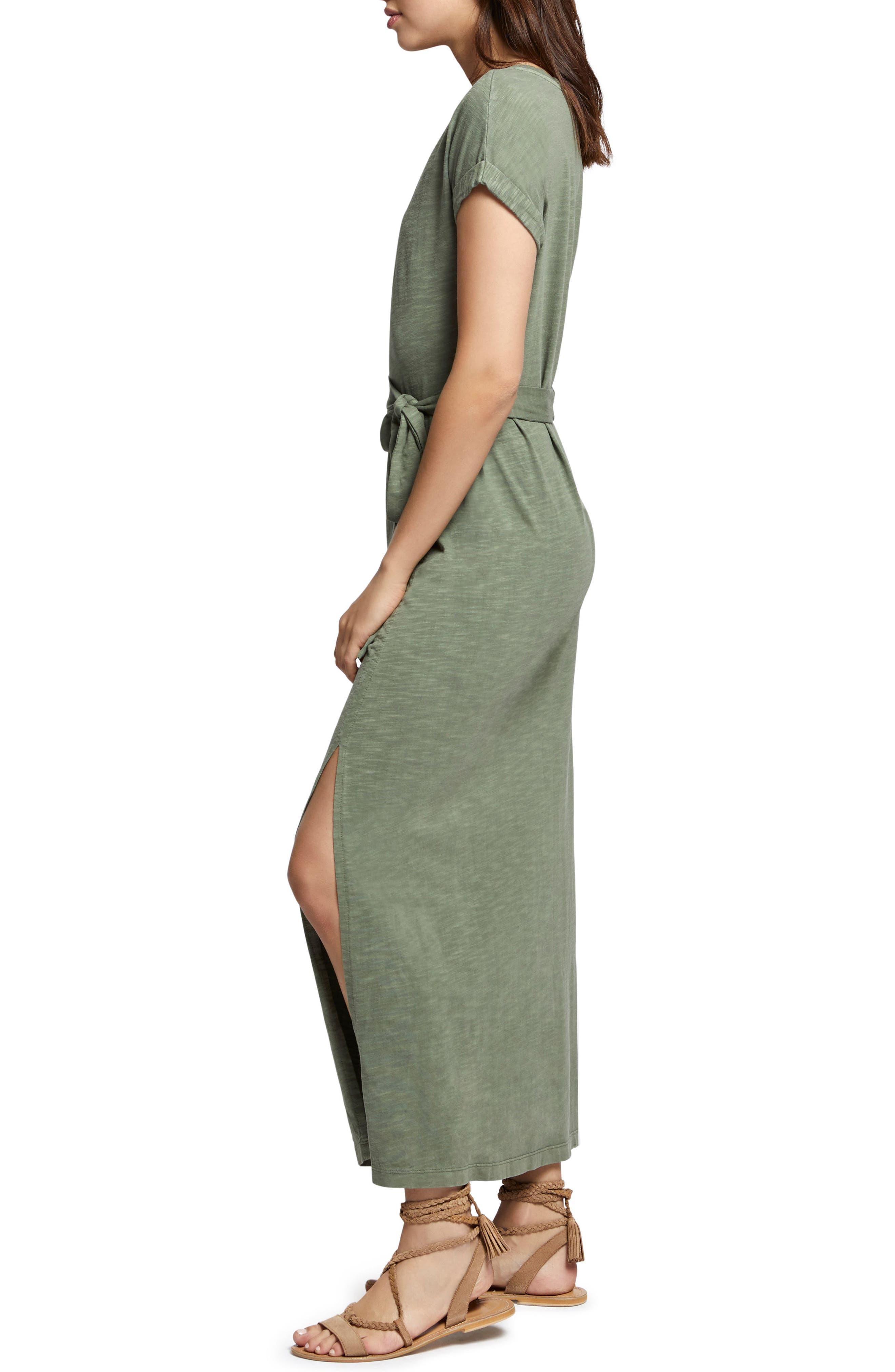 Isle Maxi Dress,                             Alternate thumbnail 3, color,                             Cadet