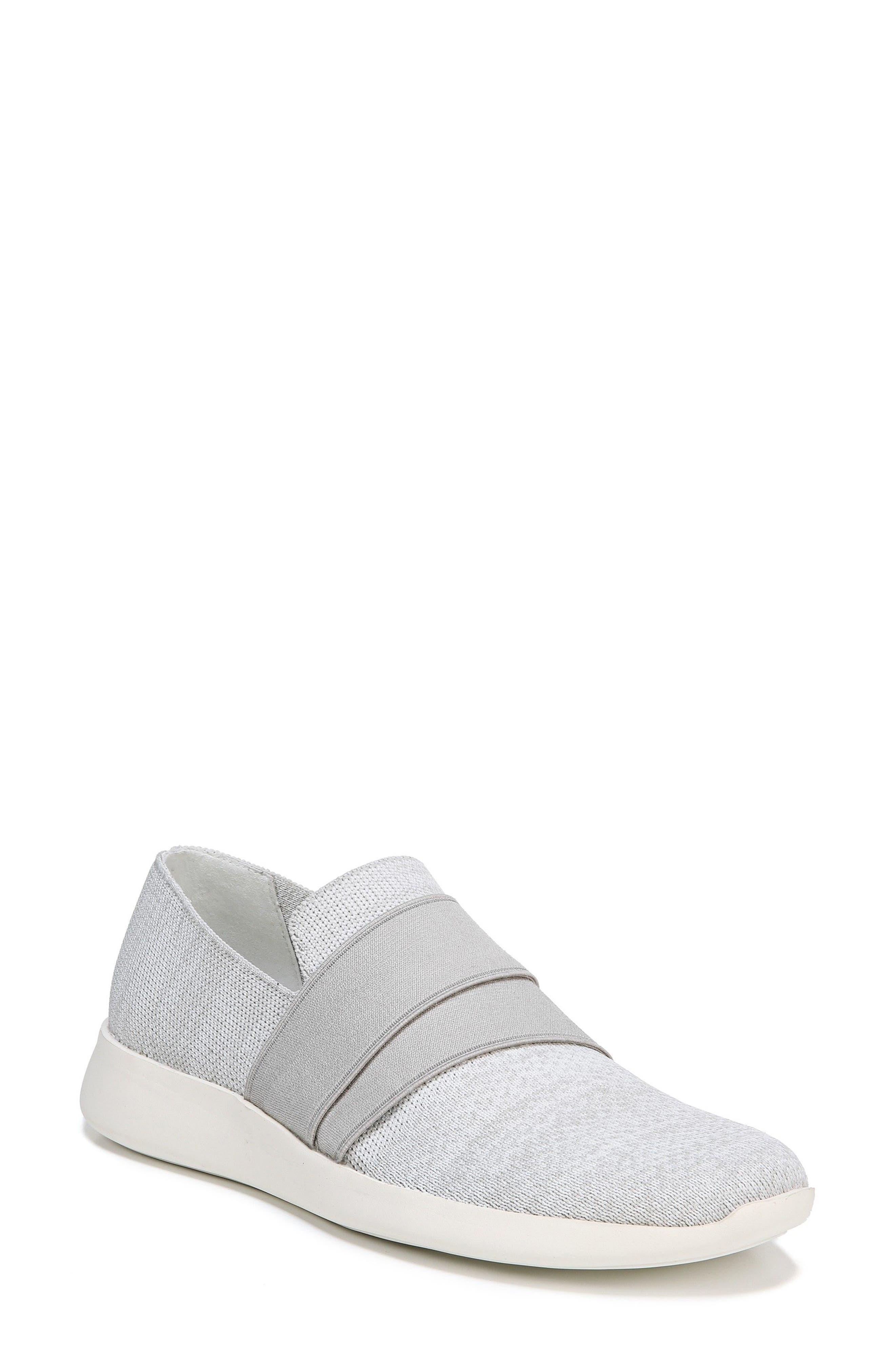 Aston Slip-On Sneaker,                             Main thumbnail 1, color,                             White/ Grey Marled Knit