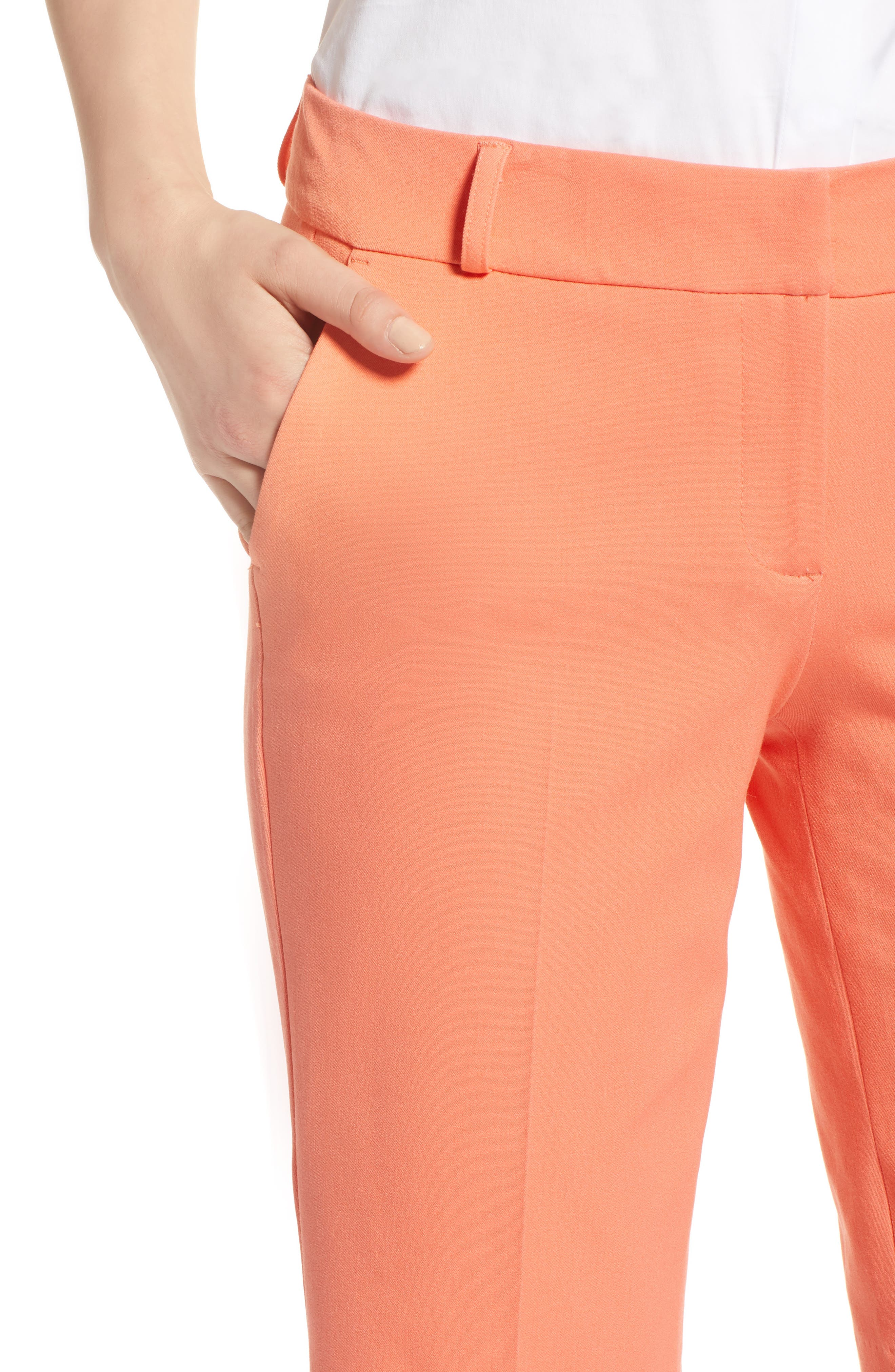 Stretch Bermuda Shorts,                             Alternate thumbnail 4, color,                             Coral Ocean