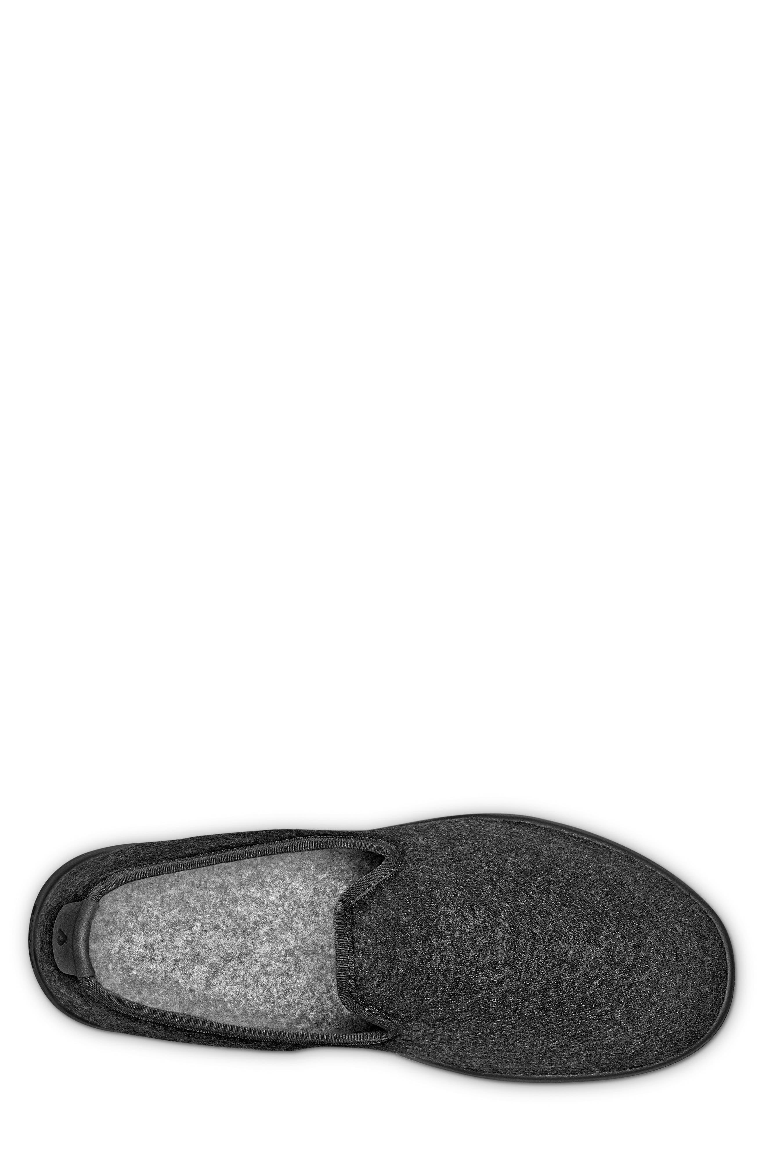 Wool Lounger,                             Alternate thumbnail 4, color,                             Natural Black