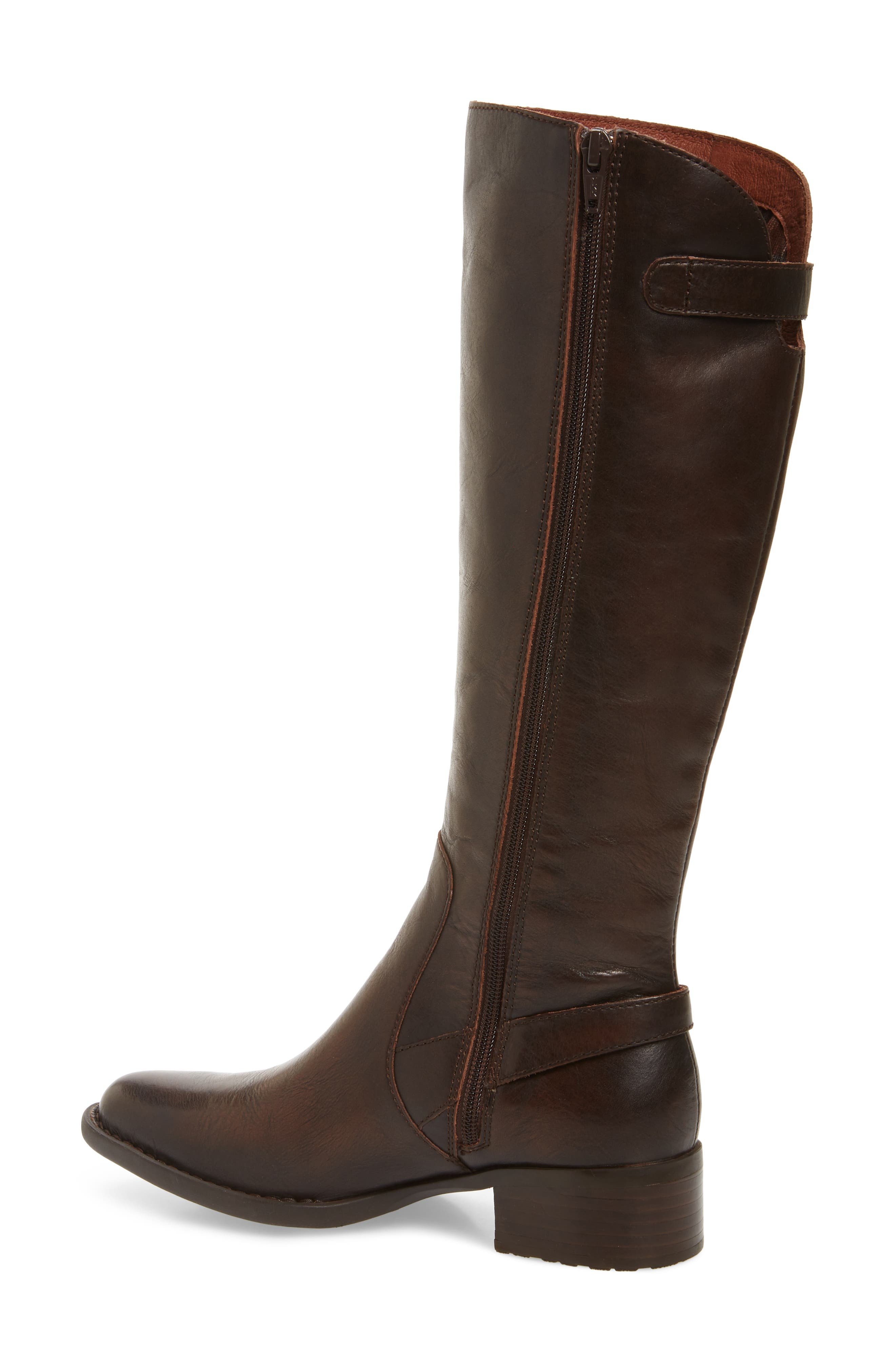 Cupra Tall Boot,                             Alternate thumbnail 2, color,                             Brown Leather