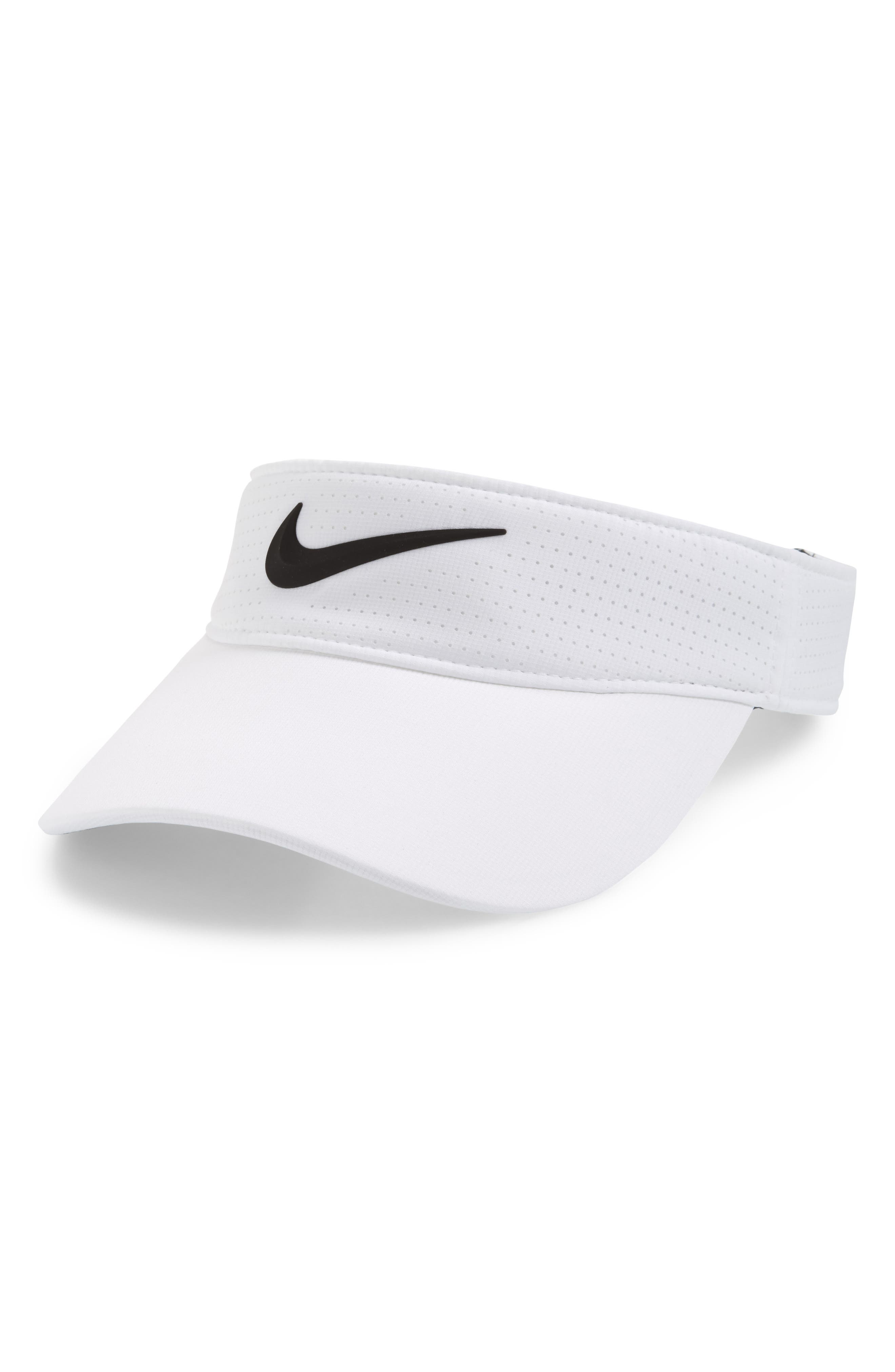 Aerobill Golf Visor,                             Main thumbnail 1, color,                             White/ Anthracite/ Black